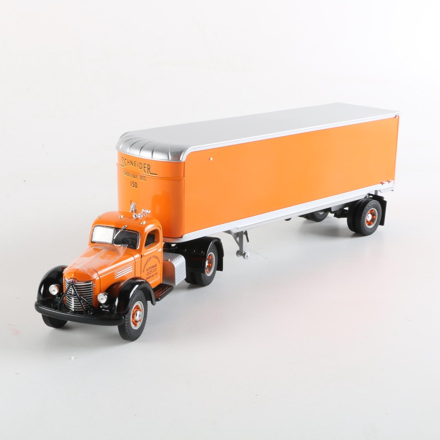 Schneider Die Cast Kb 10 International Tractor Trailer Ebth