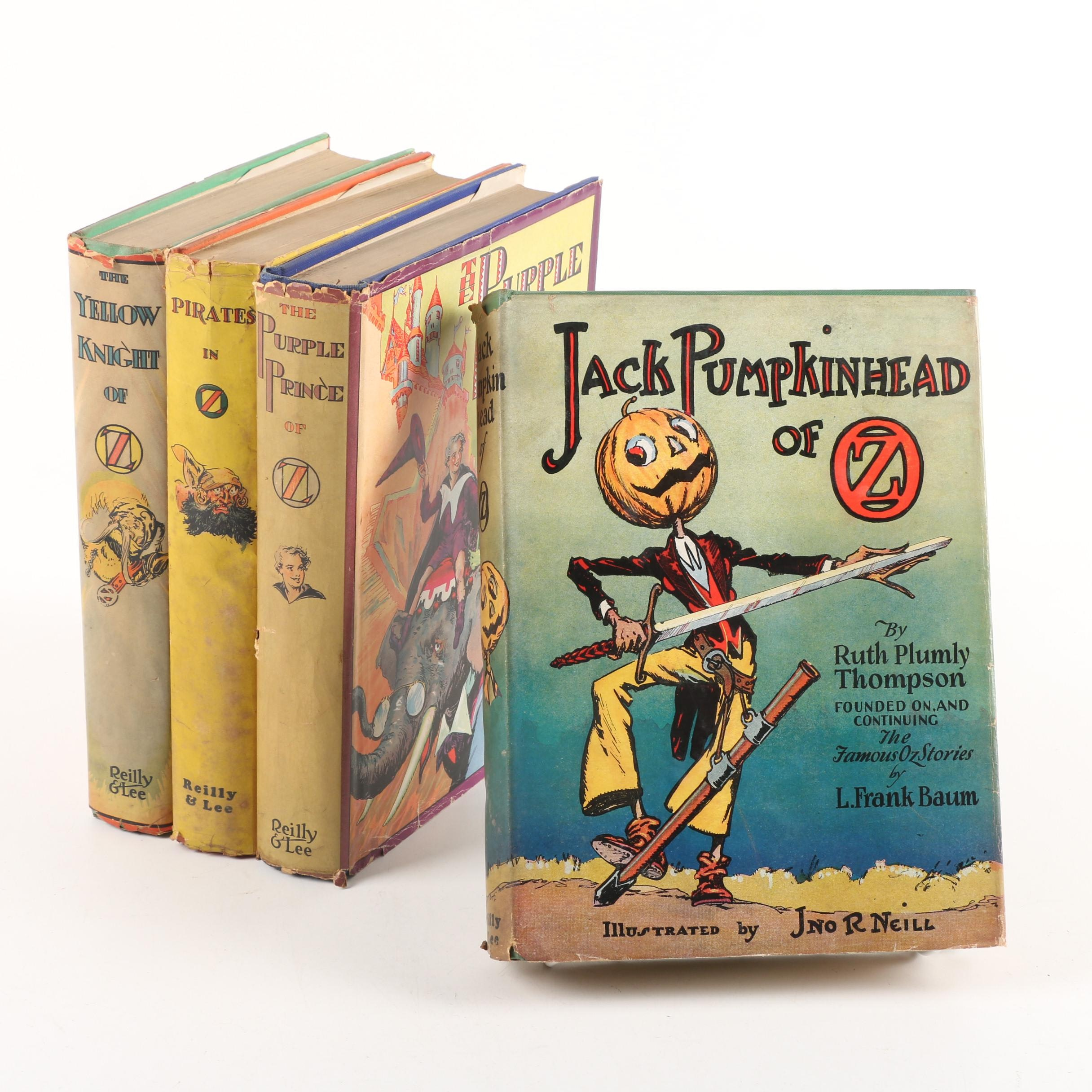 """Vintage """"Oz"""" Books by Ruth Plumly Thompson Including """"The Yellow Knight of Oz"""""""
