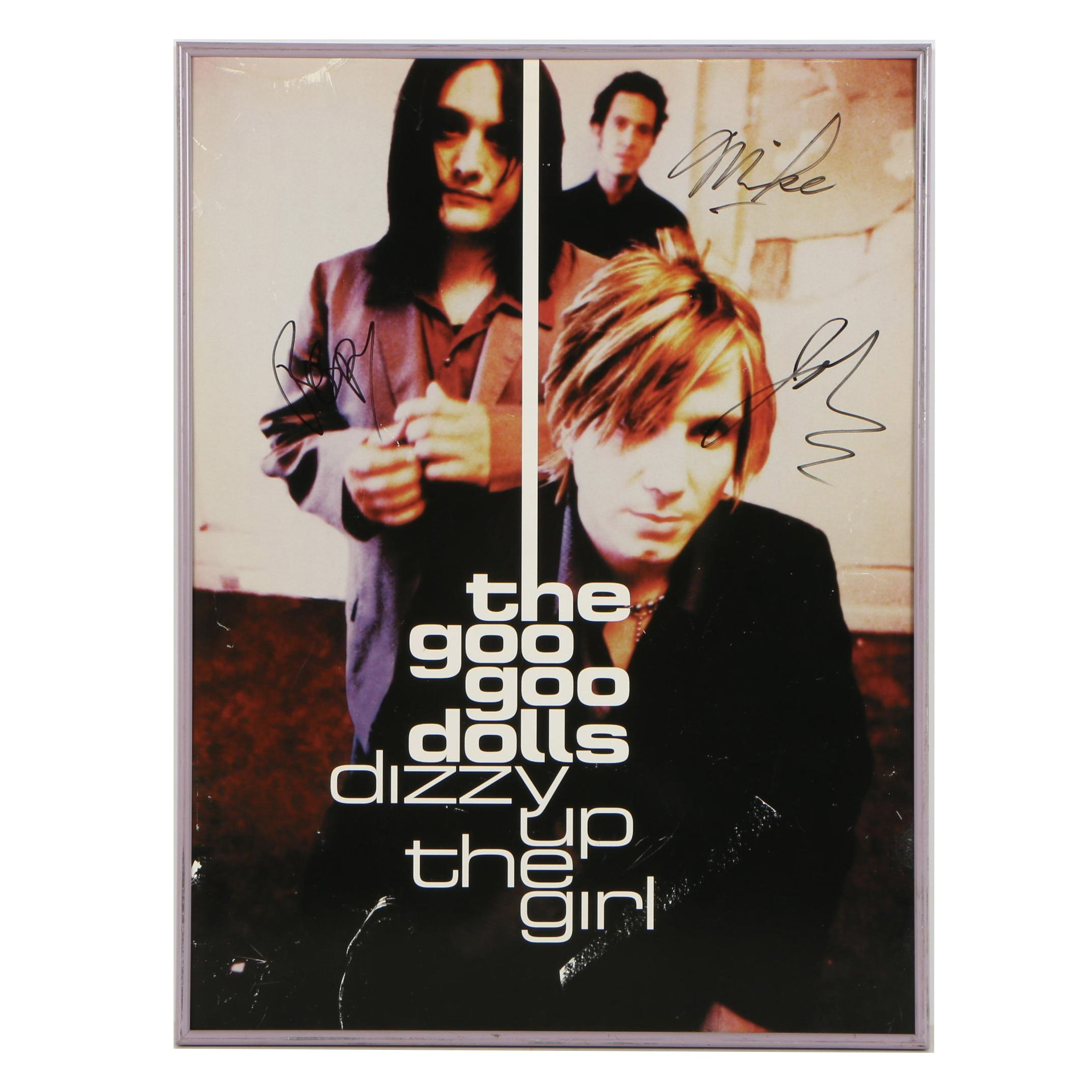 "The Goo Goo Dolls Autographed Offset Lithograph Poster ""Dizzy Up The Girl"""