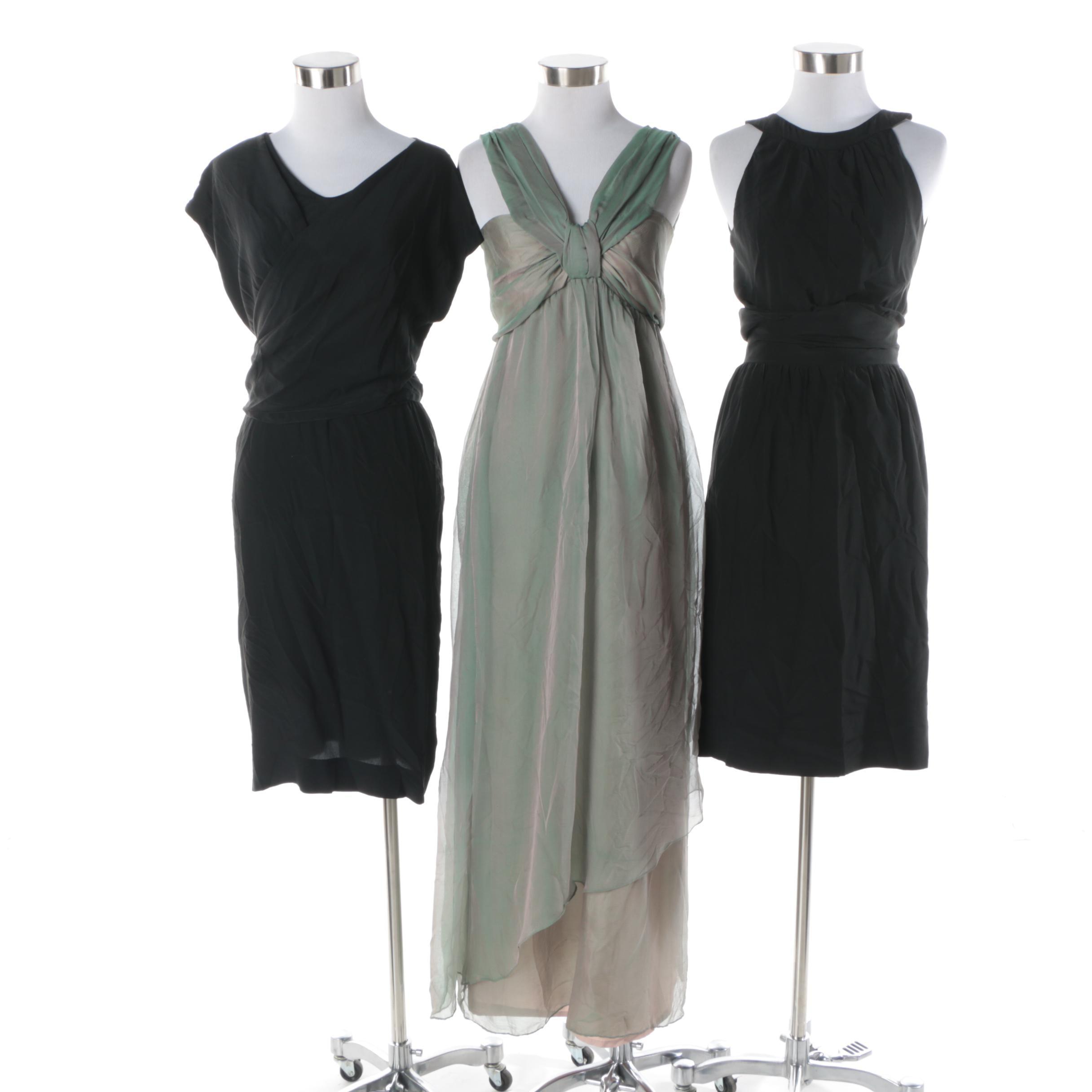 Three Evening Dresses Including Black Cocktail Dresses