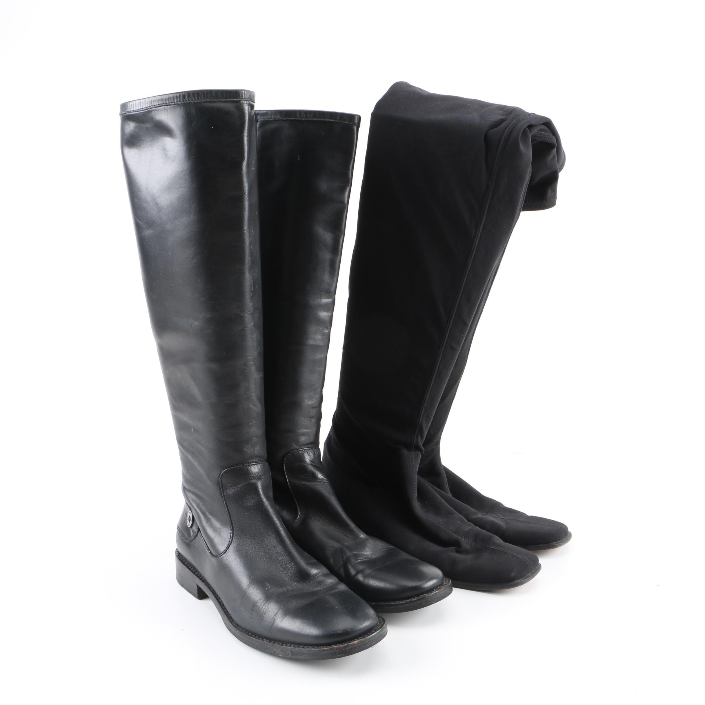 Women's Cole Haan and Stuart Weitzman Black Boots