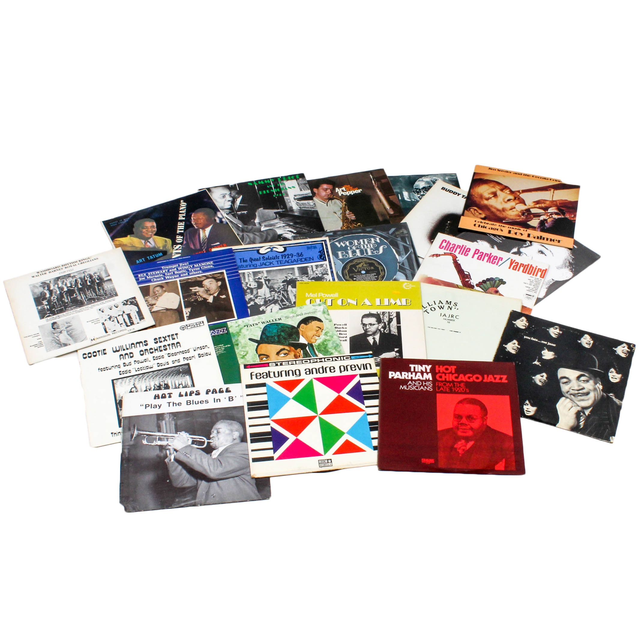 Vintage Jazz and Blues Record Albums