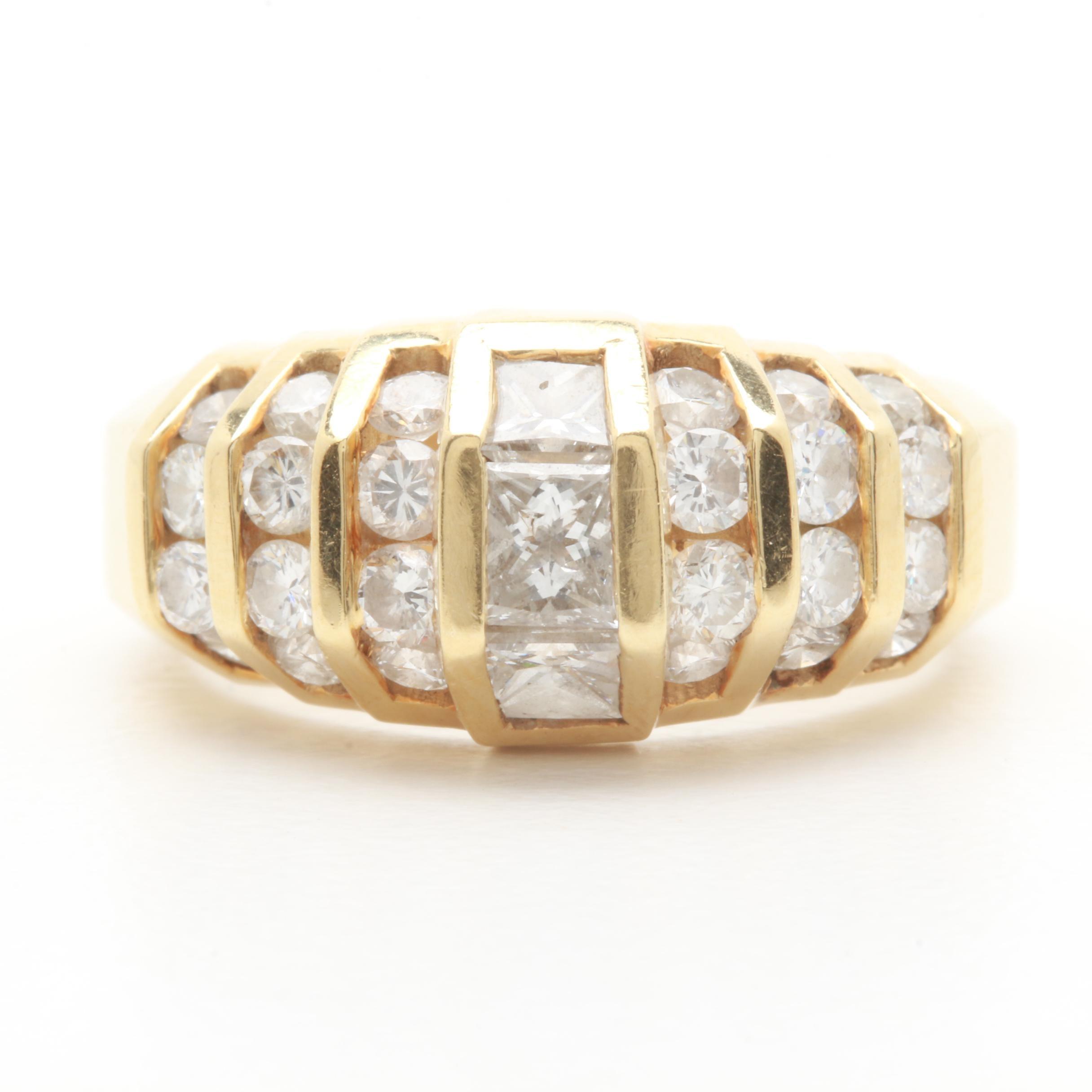 14K Yellow Gold 1.74 CTW Diamond Ring
