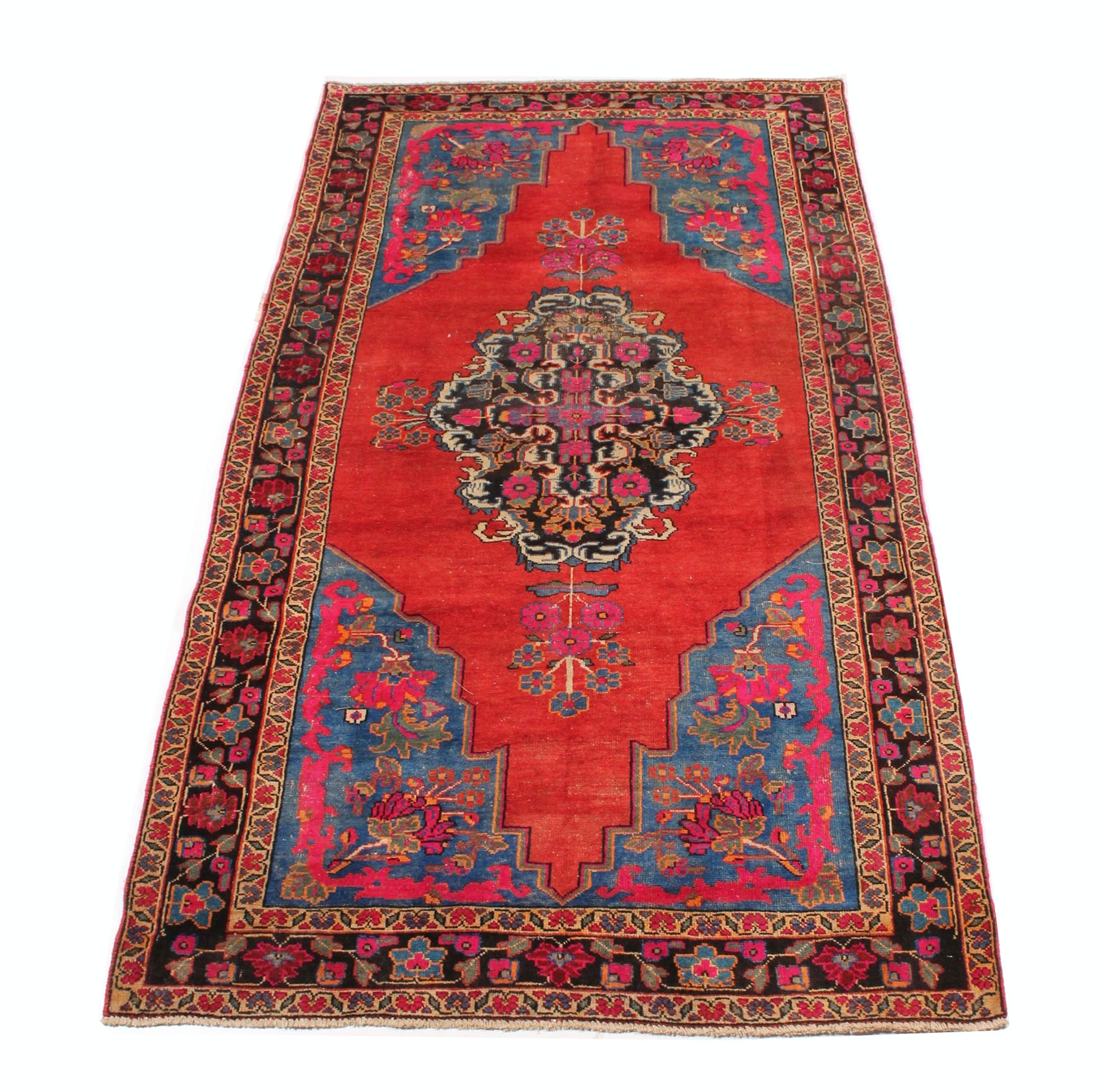 Vintage Hand Knotted Persian Malayer Sarouk Rug