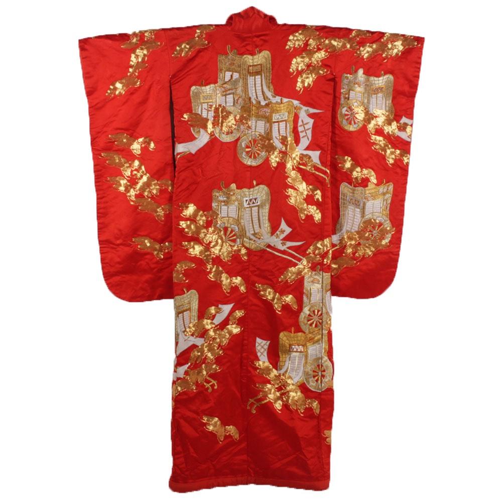 Vintage Japanese Uchikake Wedding Kimono