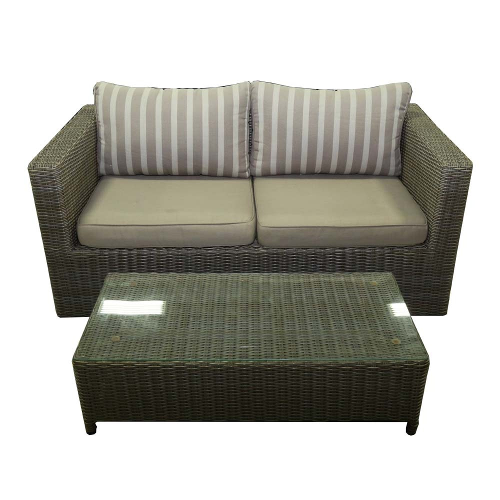 Broyhill All-Weather Sofa and Coffee Table