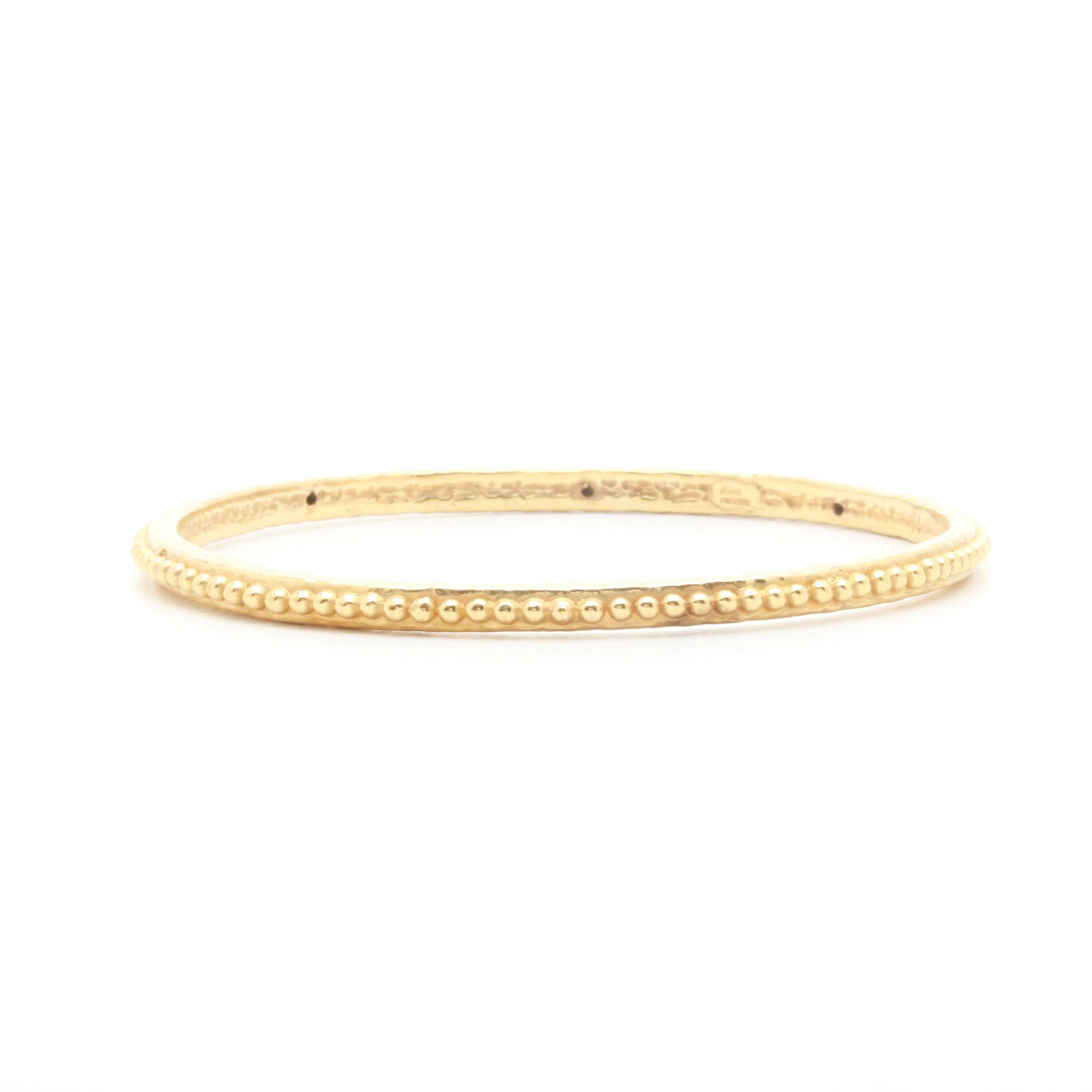 Golden Clef International 14K Yellow Gold Bangle Bracelet