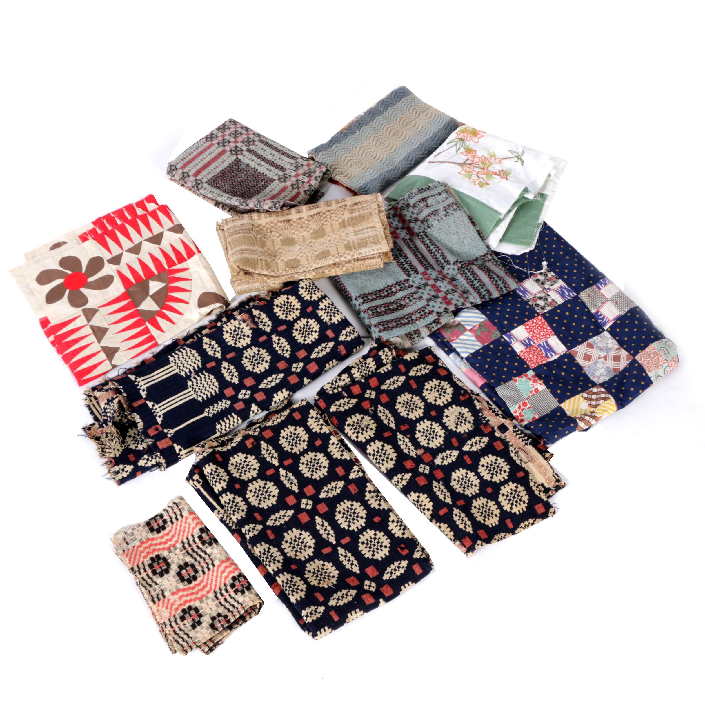 Coverlet Pieces, Quilt Tops And More
