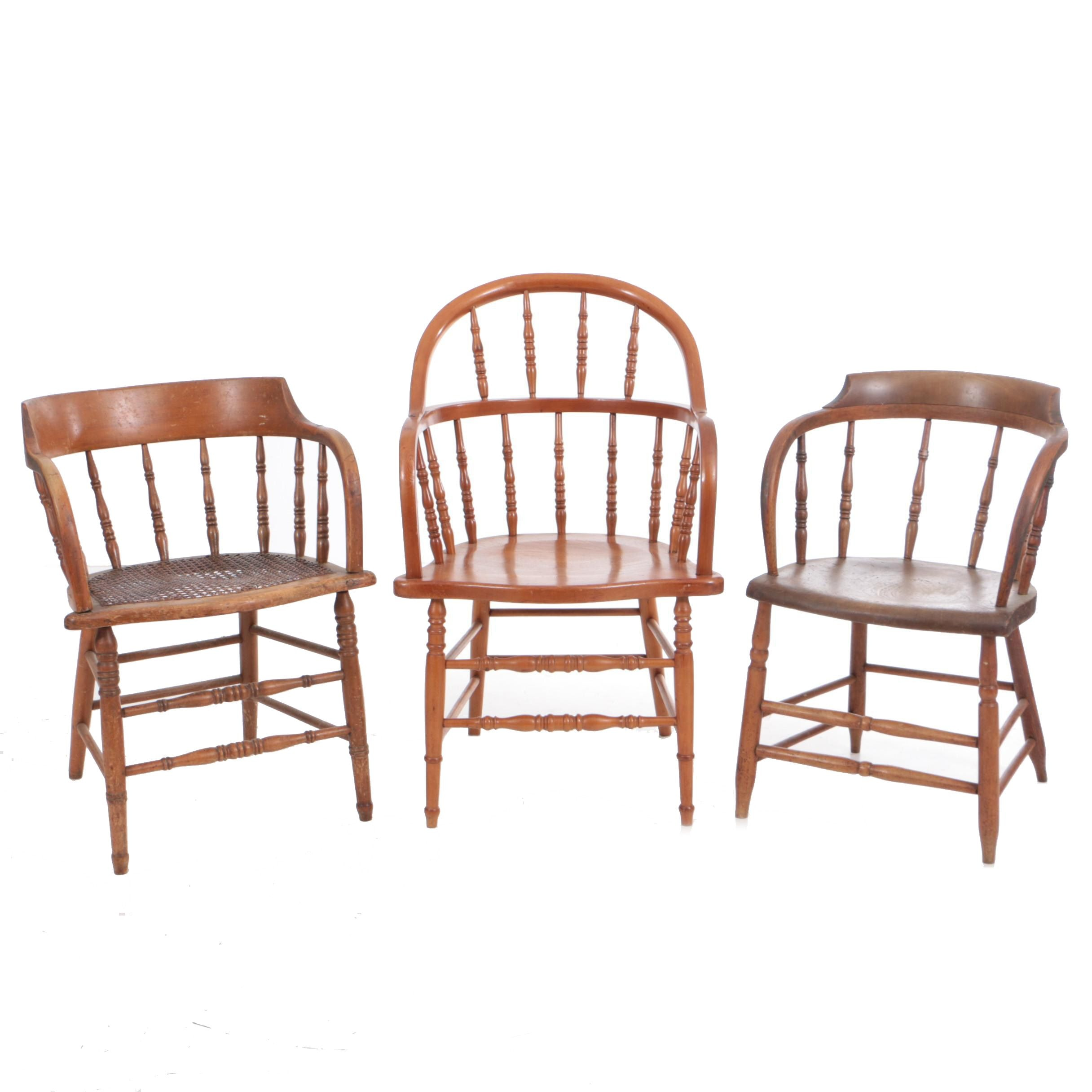Antique and Vintage Windsor Style Armchairs