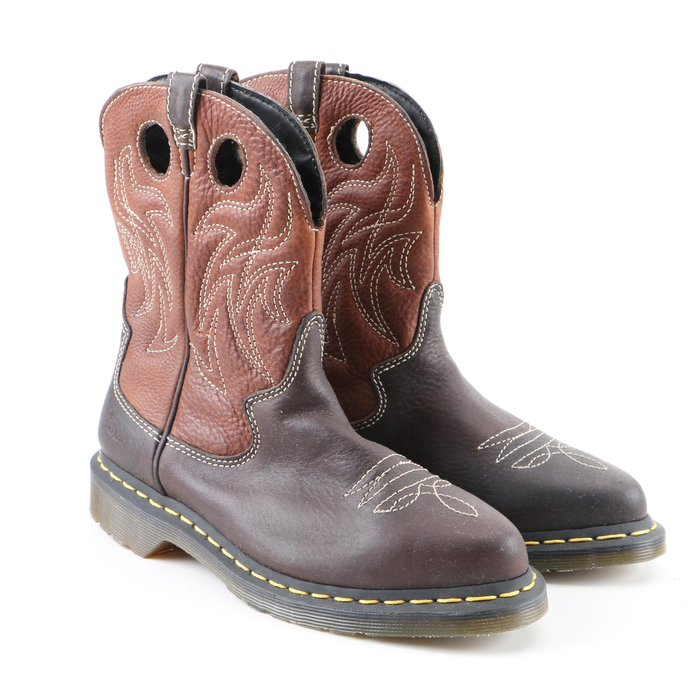 Women's Dr. Martens Brown Leather Western Boots