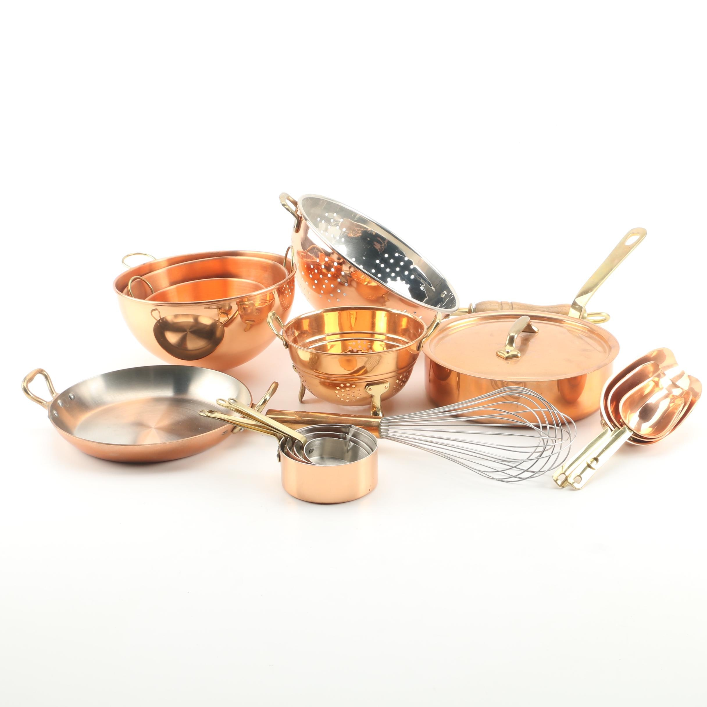 Copper Cookware and Kitchen Utensils