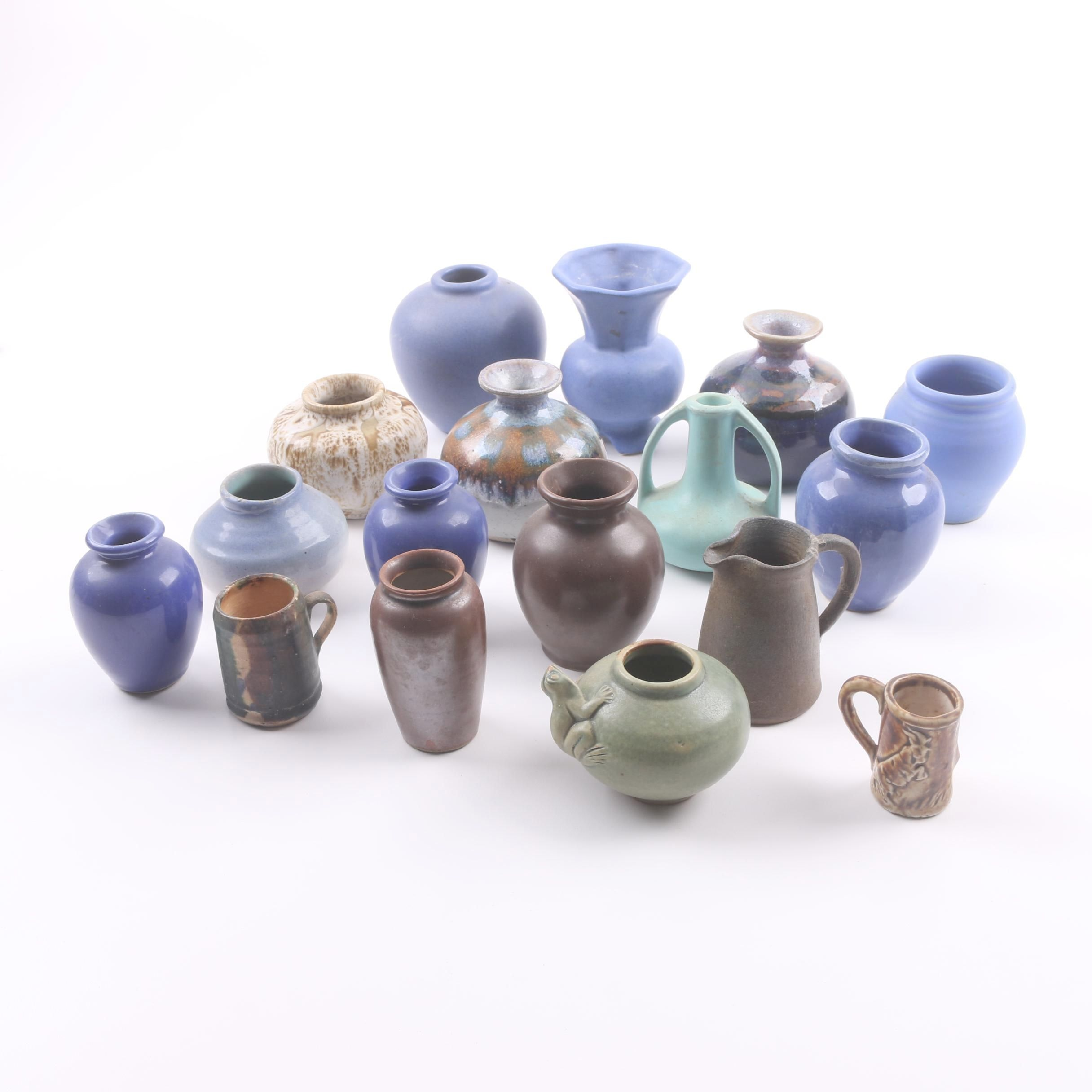 Art Pottery Vases including Niloak, James Towne Collony, & Pigeon Forge