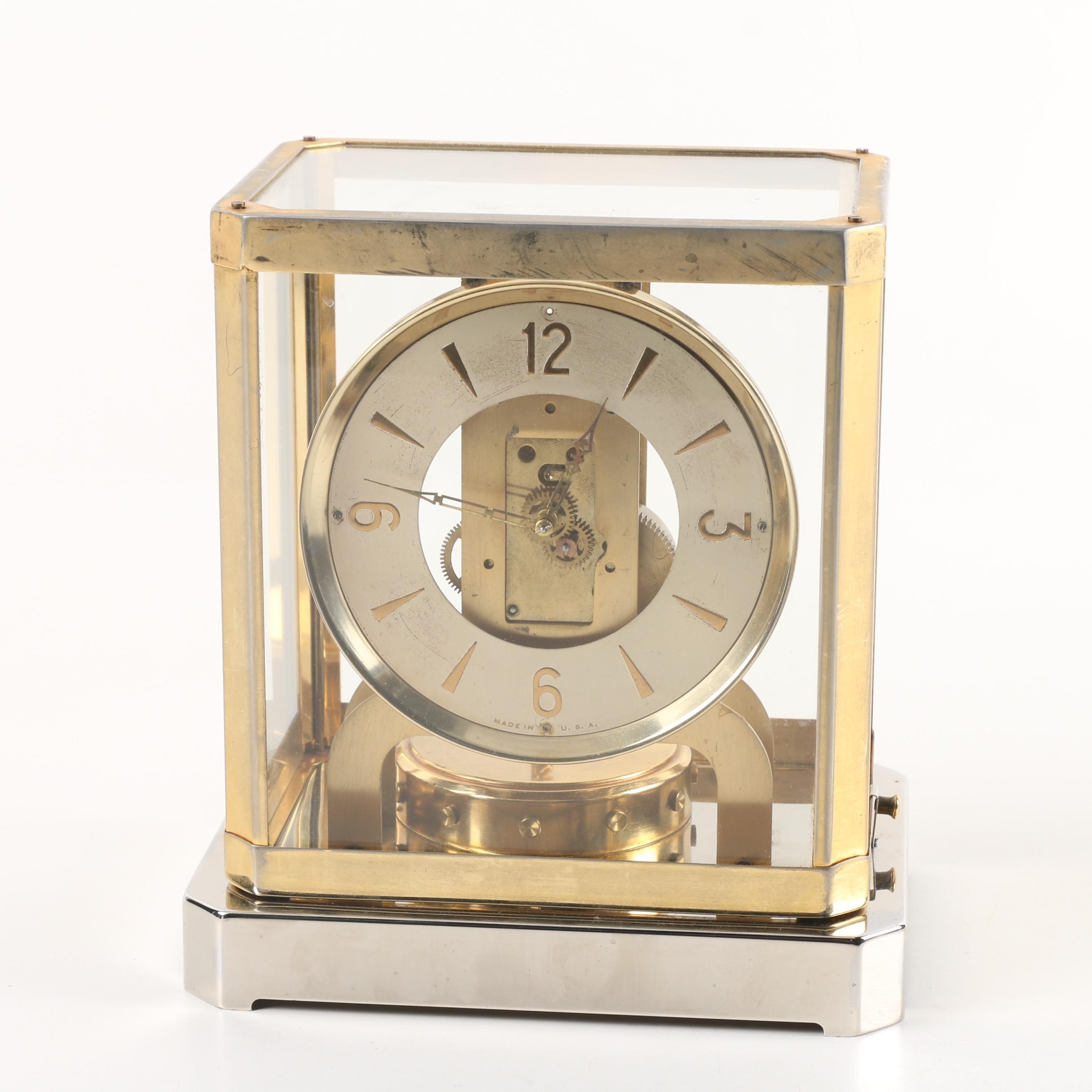 Brass and Glass Anniversary Clock