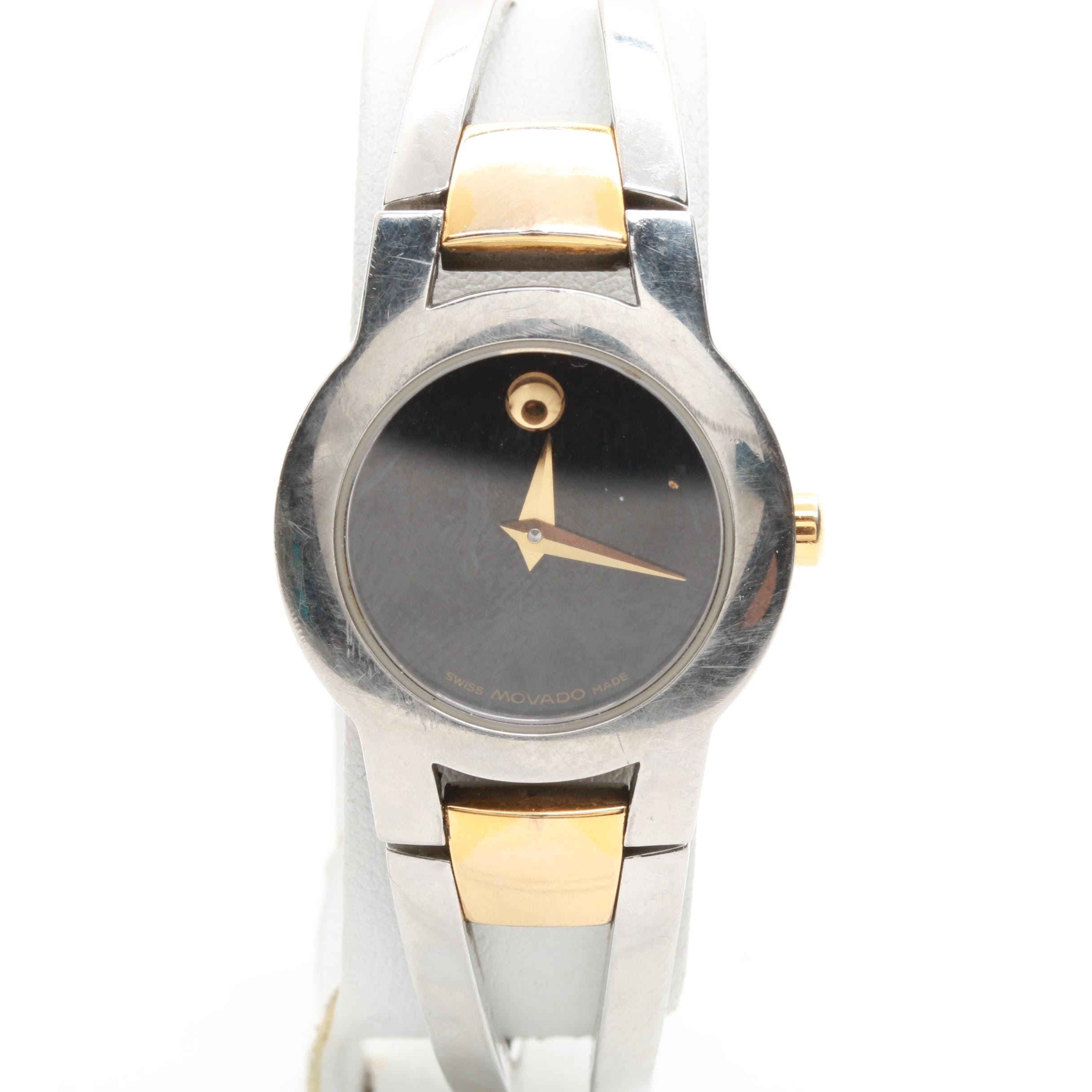 Movado Museum Two Tone Stainless Steel Wristwatch