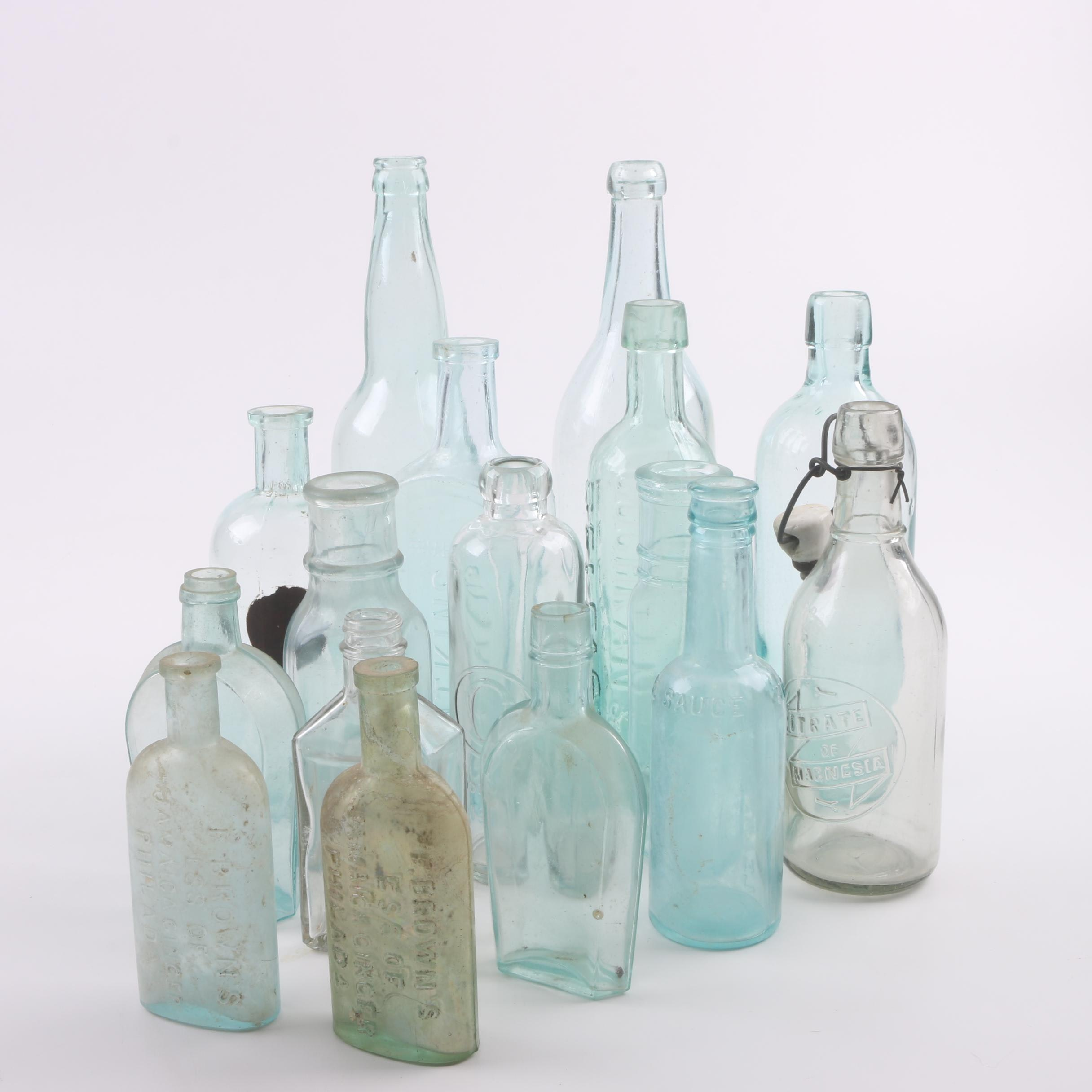 Antique Glass Medicine Bottles