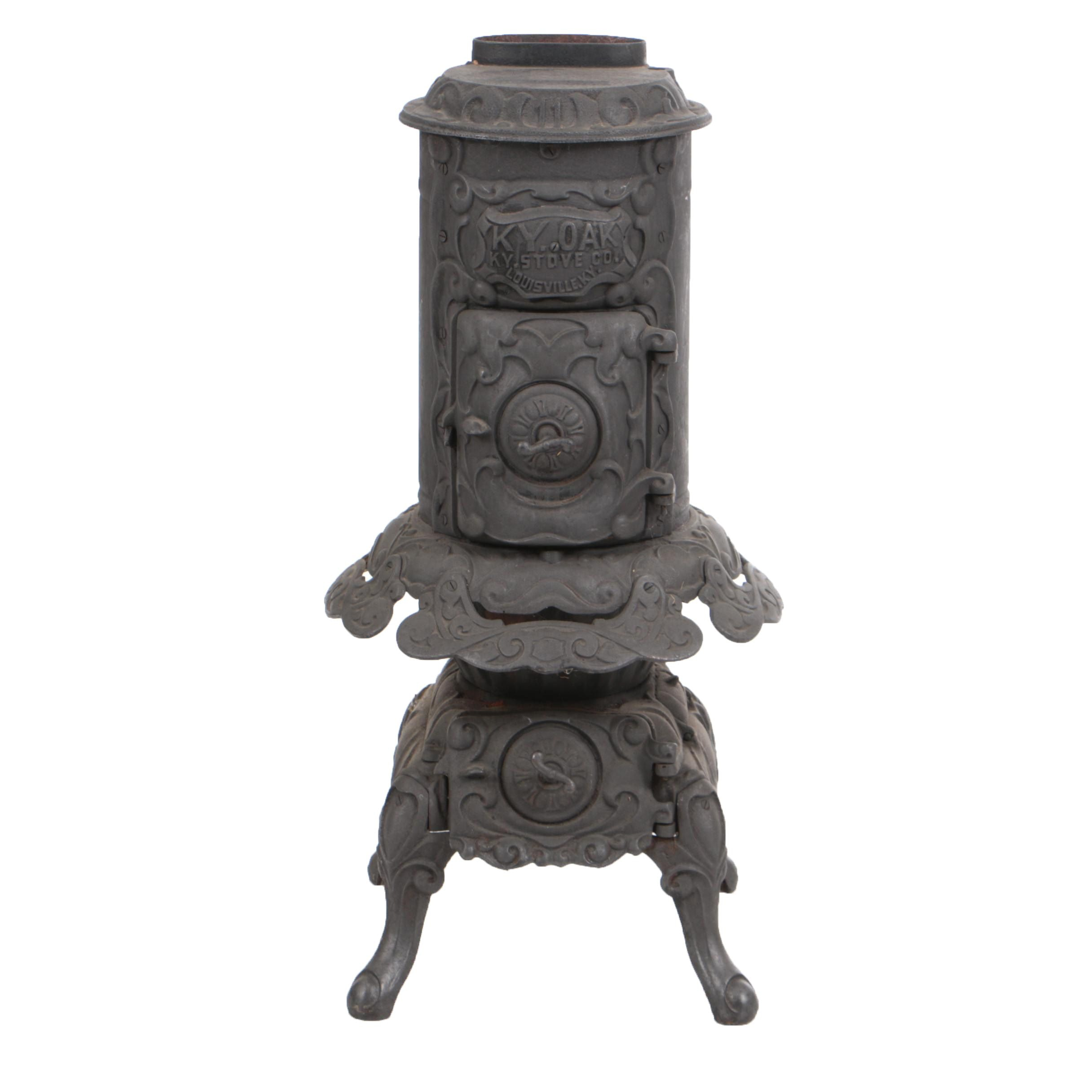"Antique ""KY. Oak"" Cast Iron Stove by KY. Stove Co."