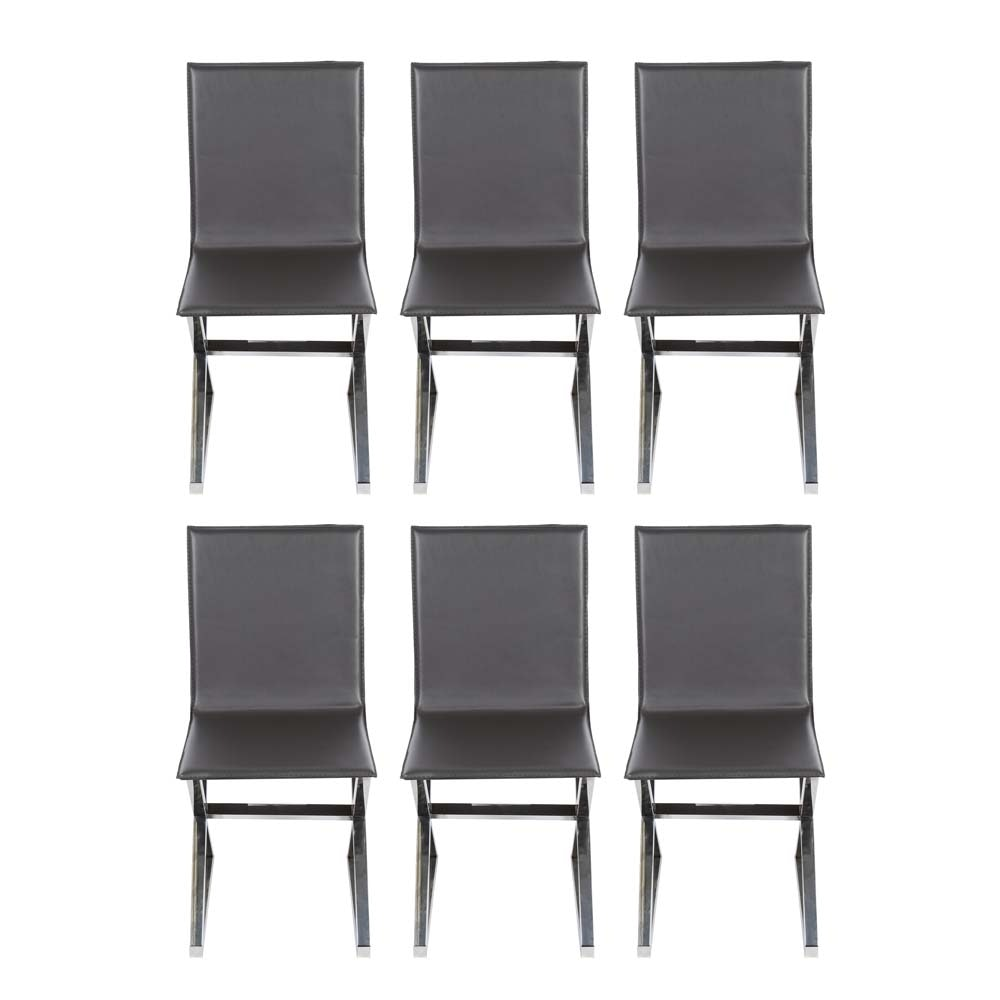 Six Grey Axis Dining Chairs