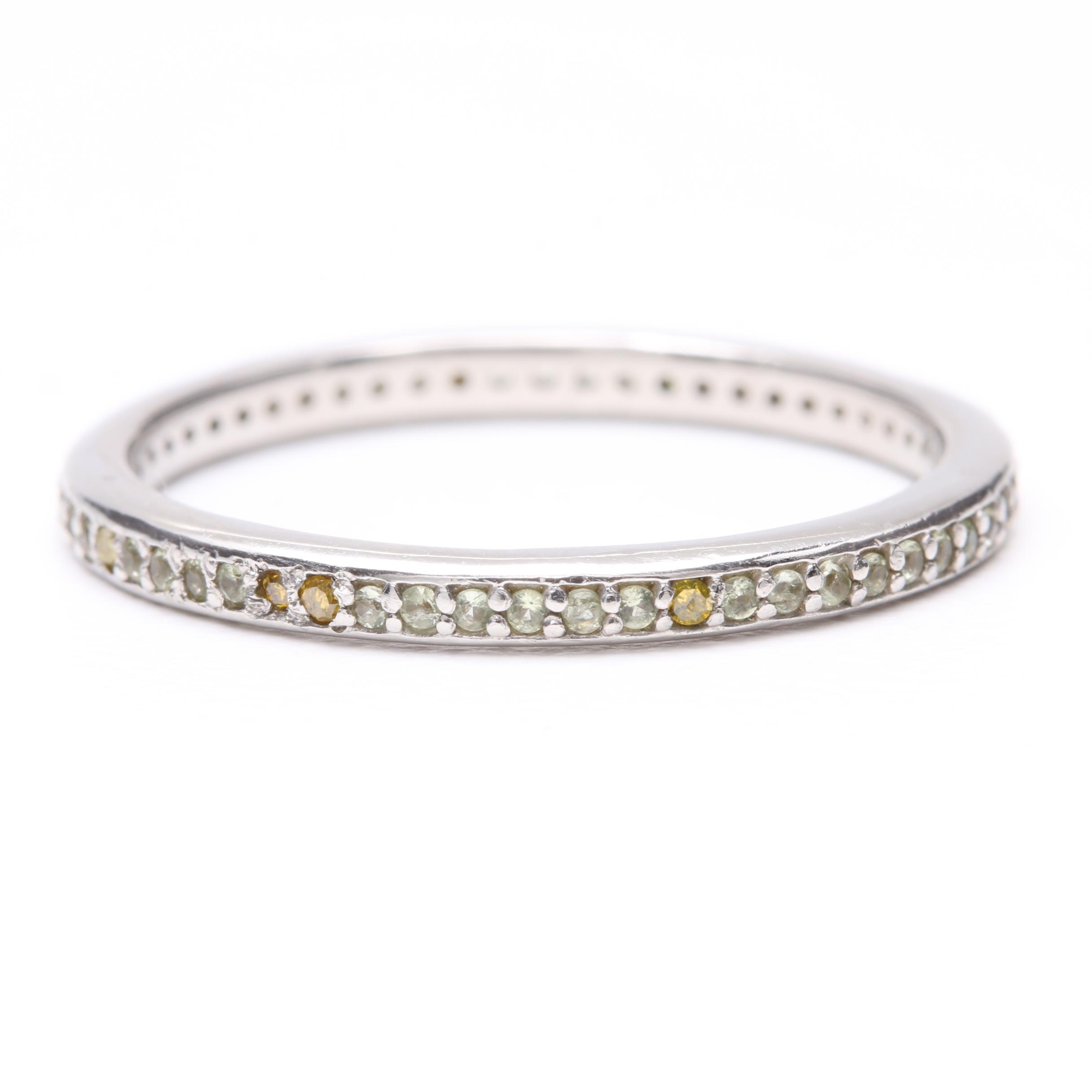 Platinum Diamond and Cubic Zirconia Ring
