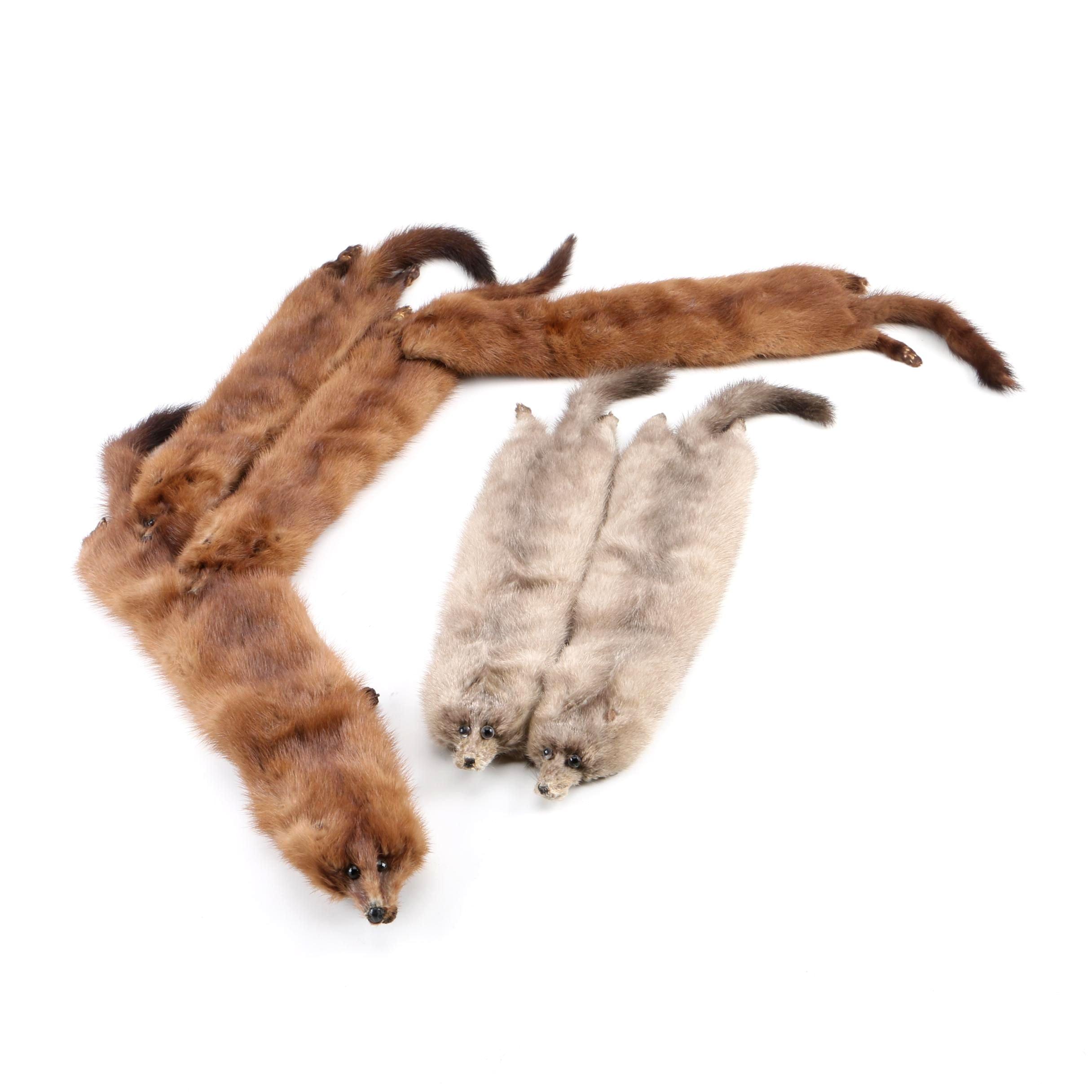 Vintage Mink Pelt Fur Stoles