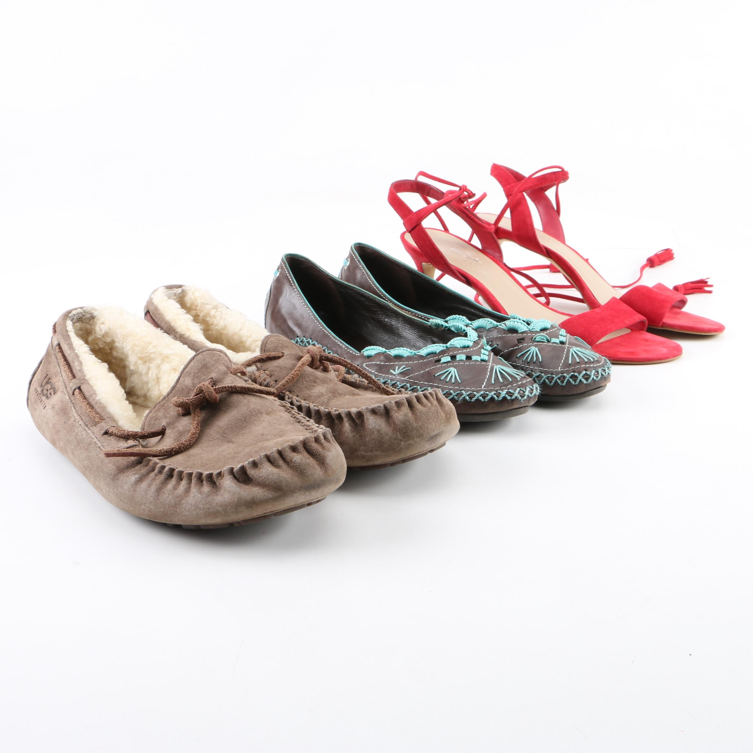 Women's UGG Moccasins, Lord & Taylor Dress Sandals and BCBG Max Azria Flats