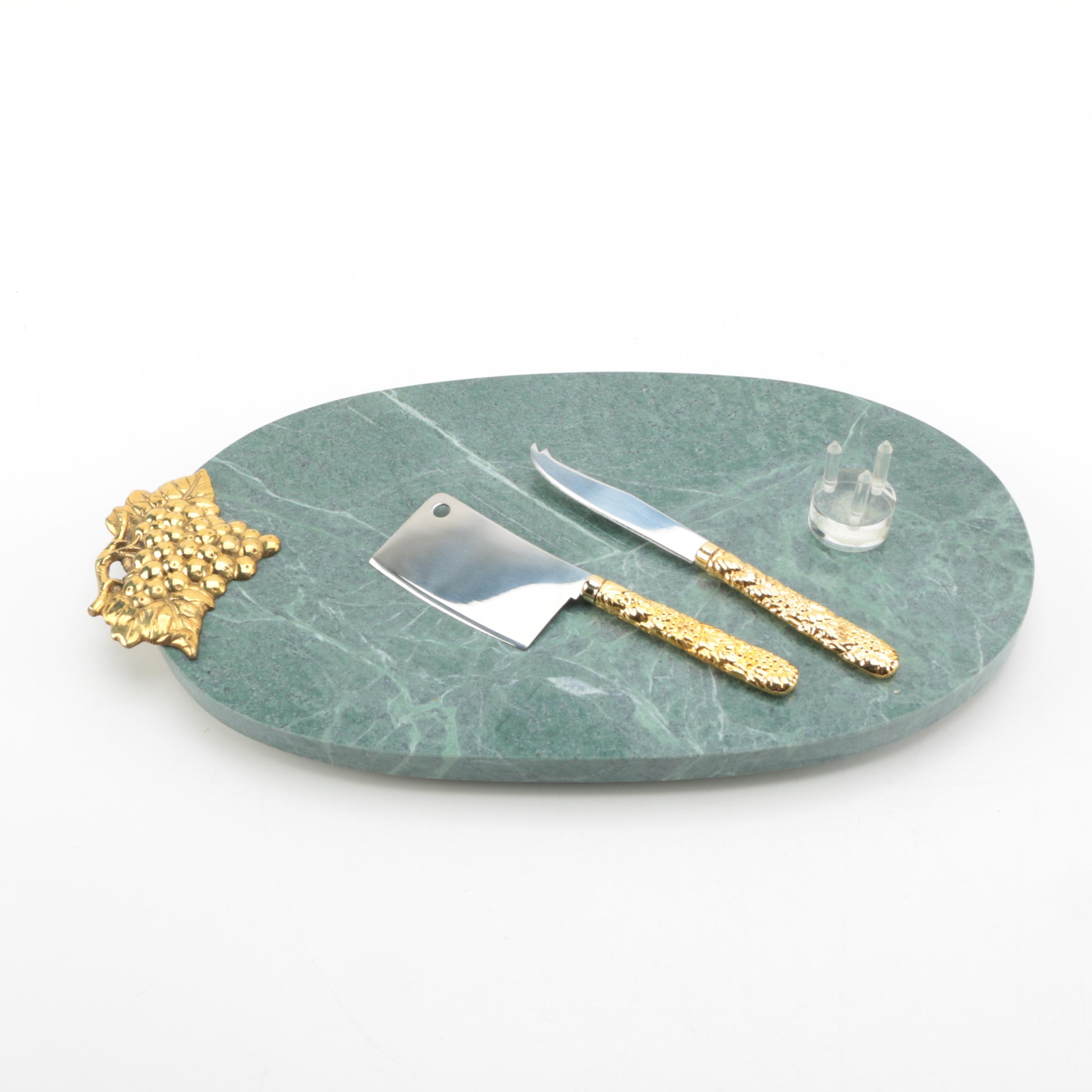Marble Cheese Serving Set