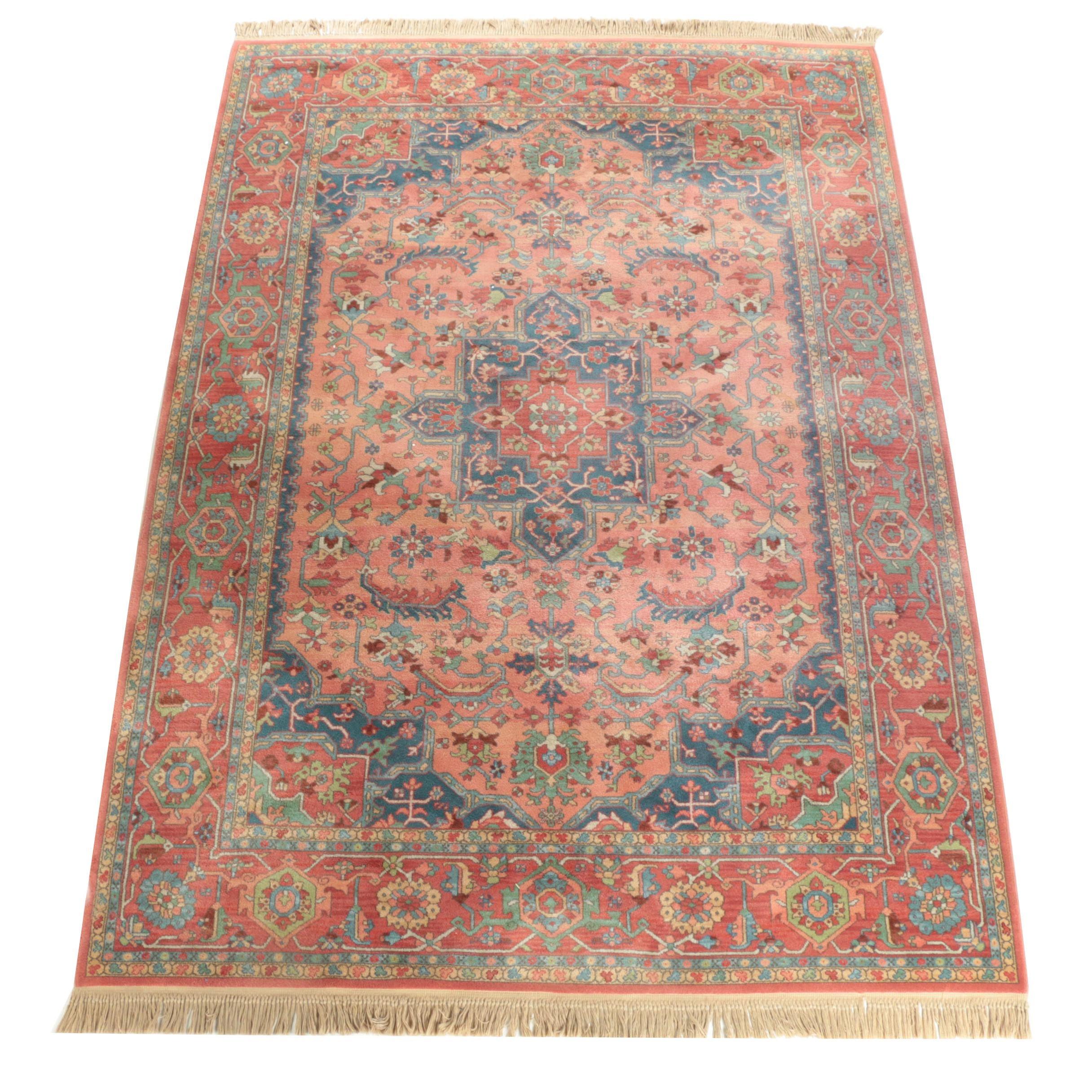"Power-Loomed Karastan ""Medallion Serapi"" Wool Room Sized Rug"