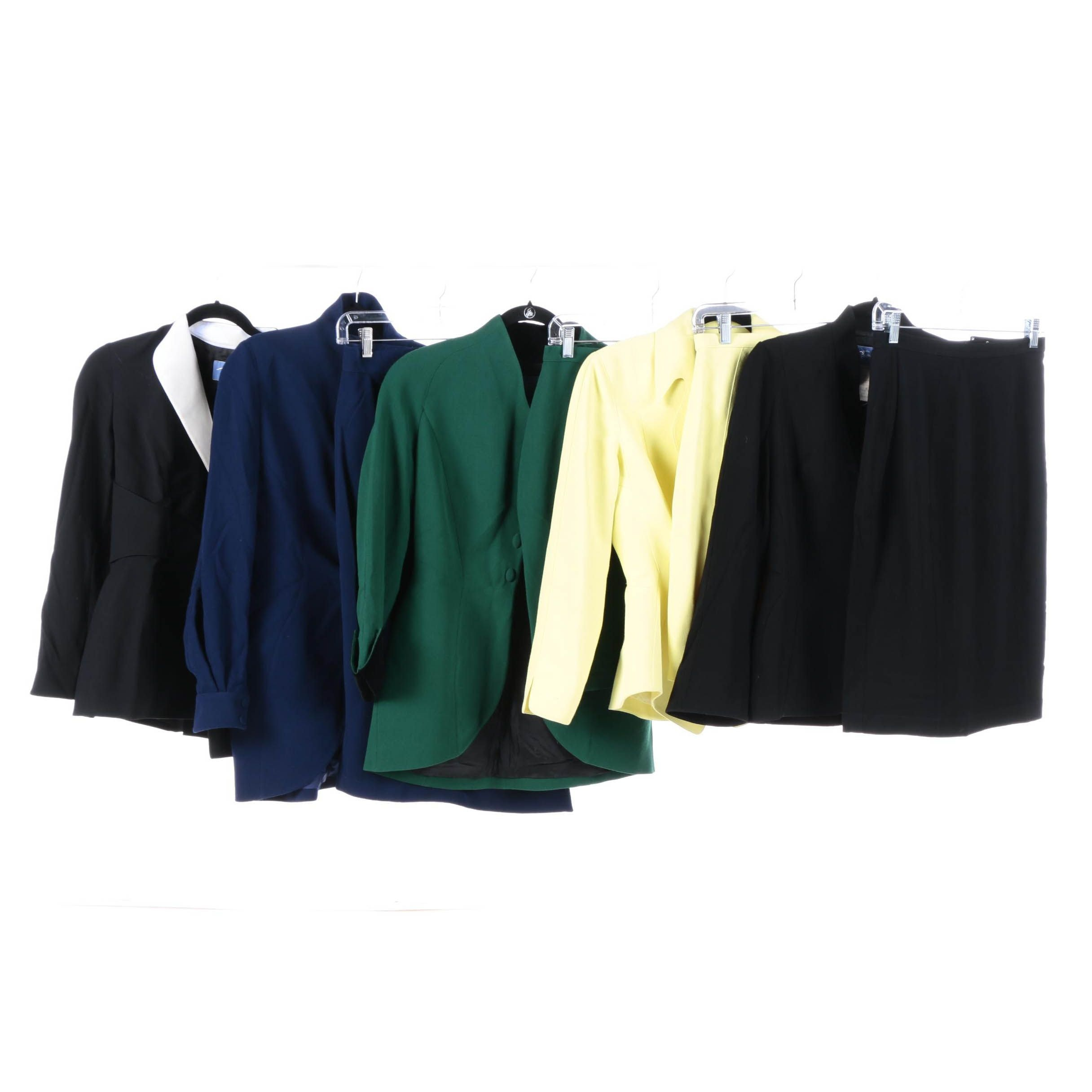 Thierry Mugler Wool Skirt Suits and Thierry Mugler Couture Blazer
