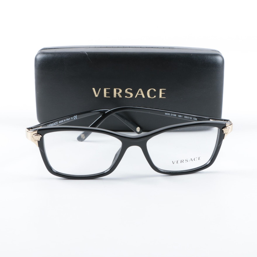 58437519f5 Versace Medusa Accent Eyeglasses   EBTH