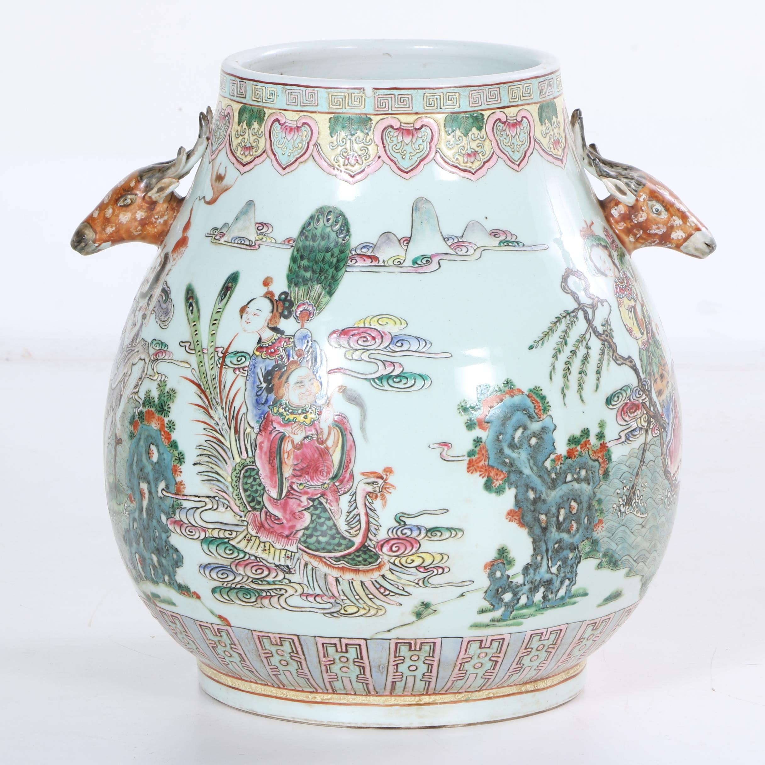 Chinese Decorative Hand Painted Porcelain Vessel