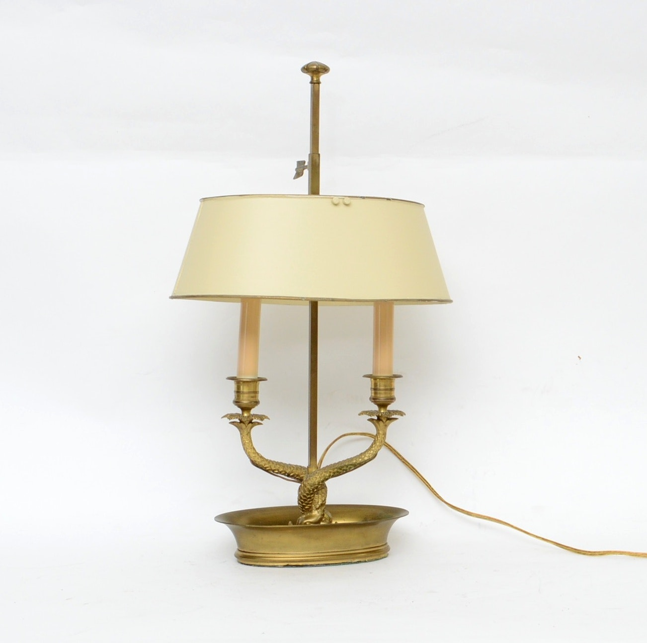 Brass Dolphin Bouillette Table Lamp