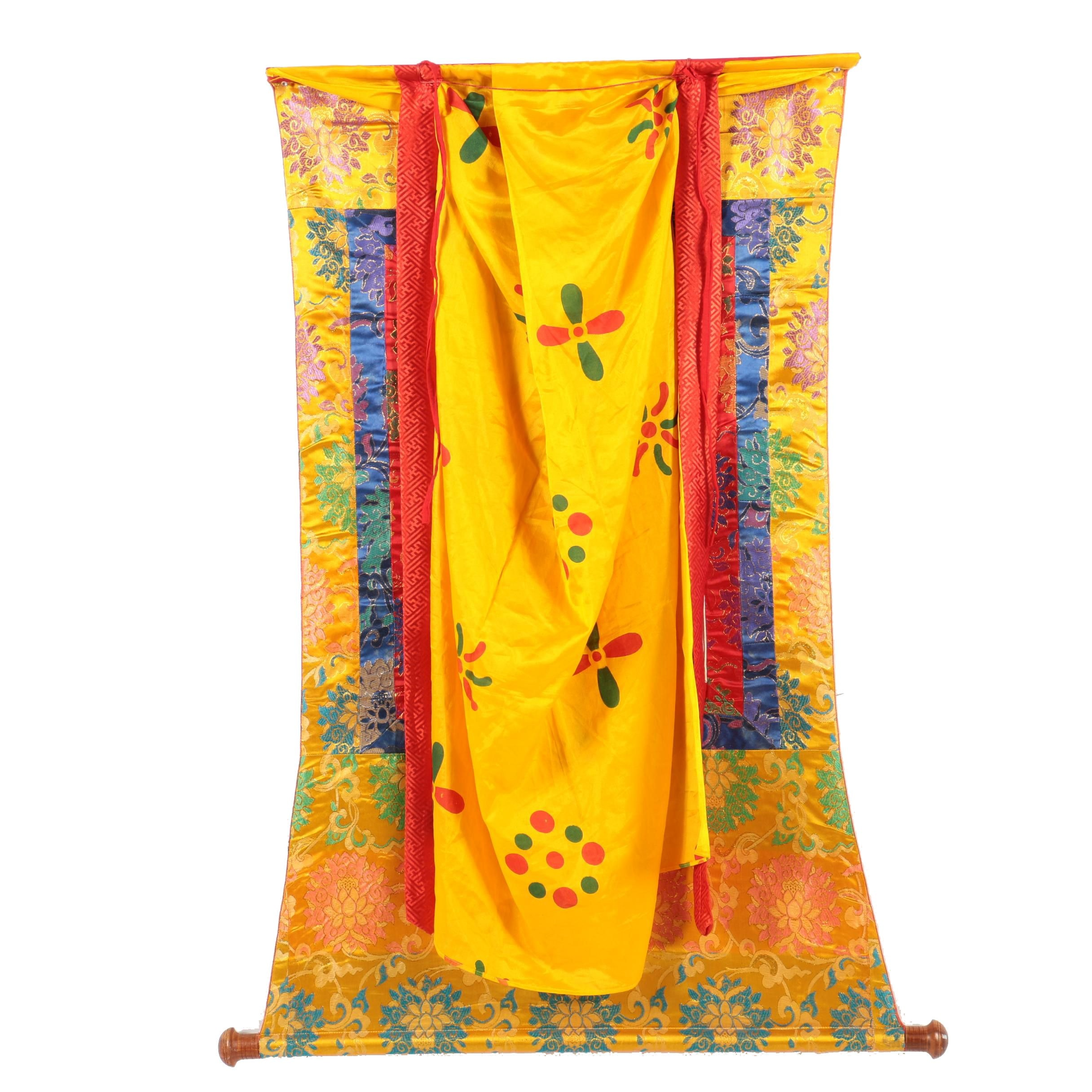 Fabric Wall Hanging Featuring Tibetan Buddhism Guru Rinpoche
