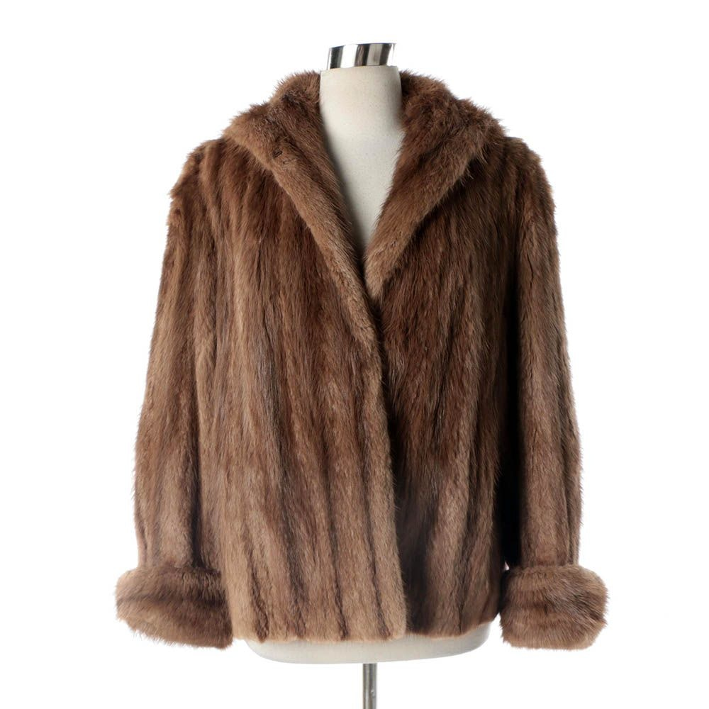 Women's Vintage Garland's of St. Louis Muskrat Fur Coat