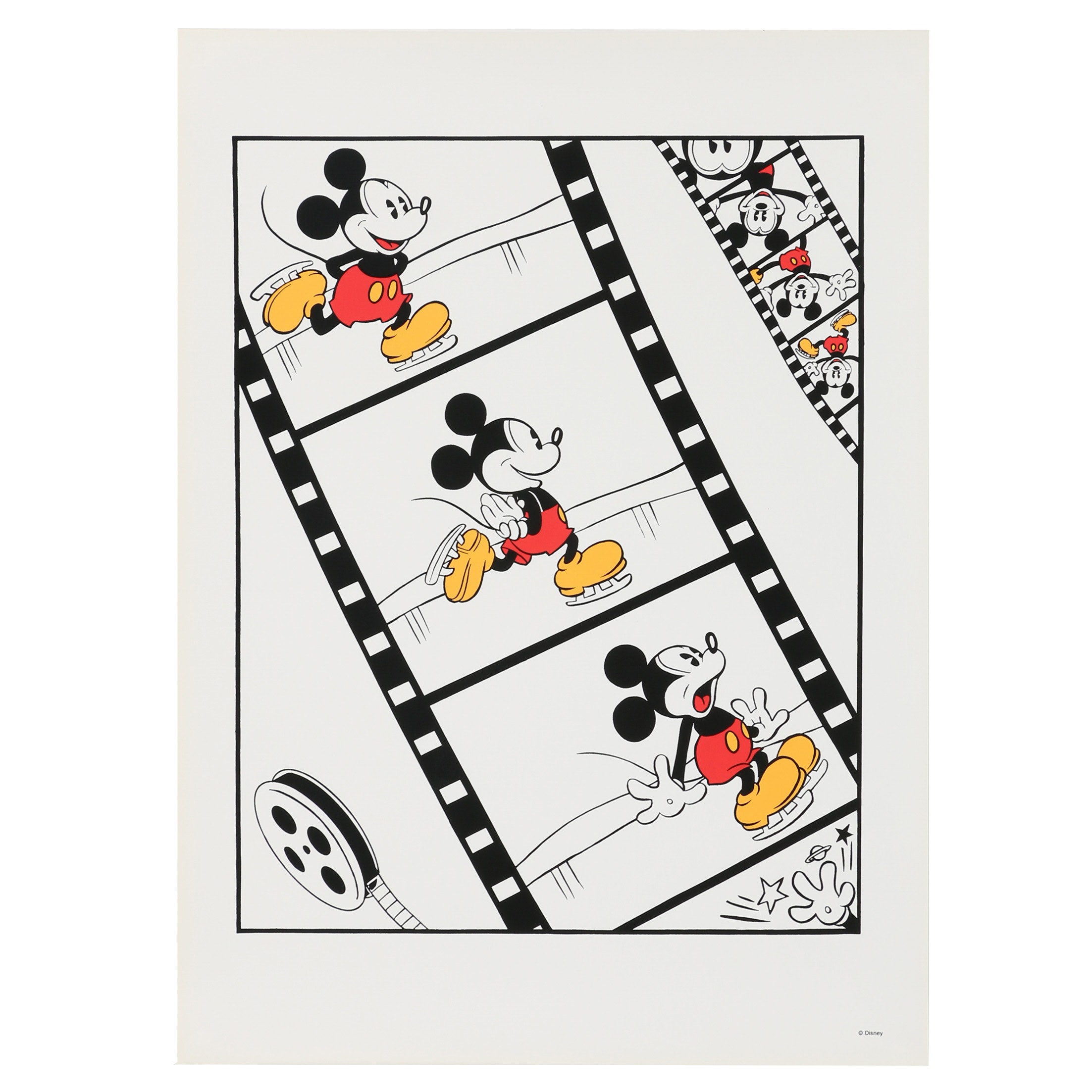 Sowa and Reiser Serigraph of Mickey Mouse on Ice Skates
