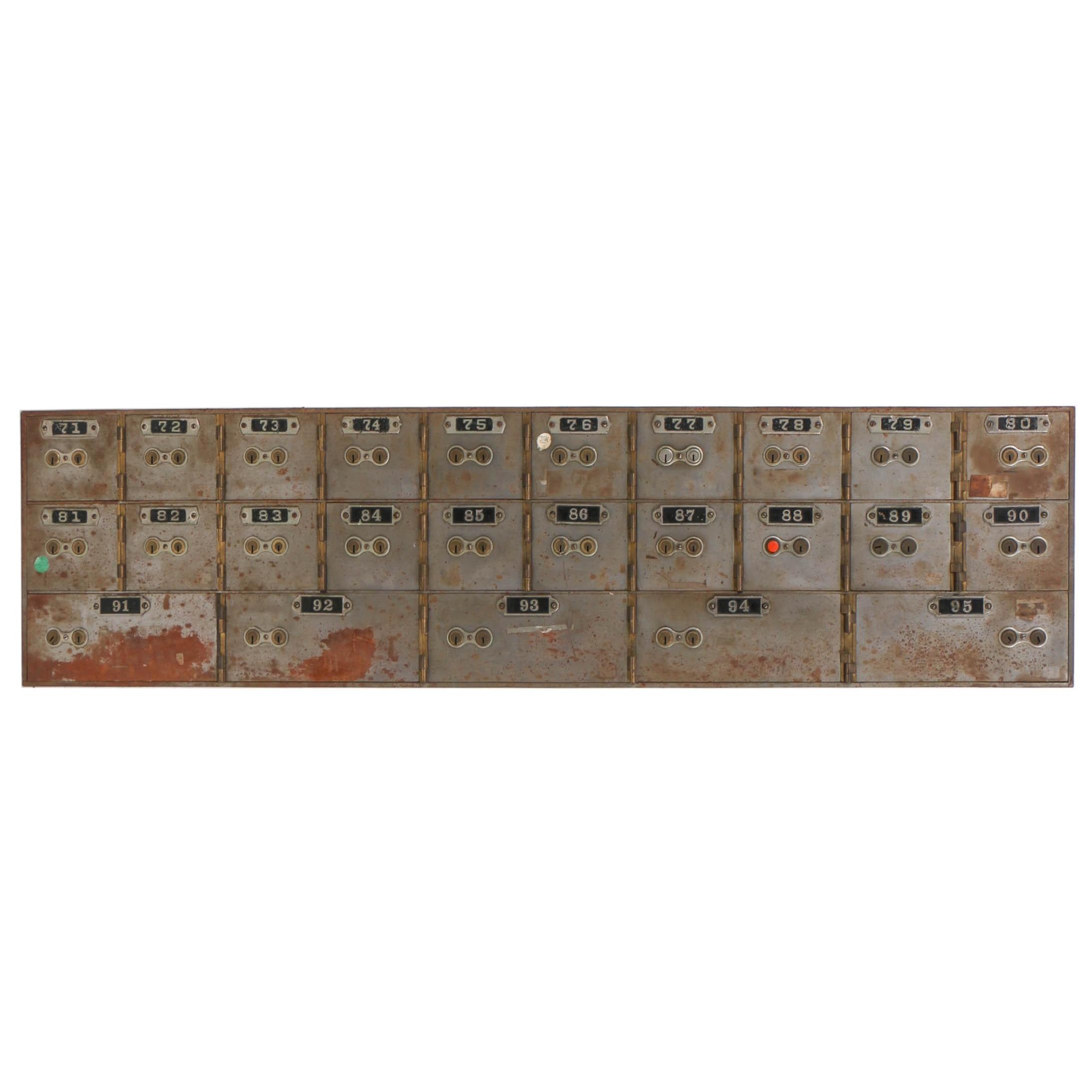 Vintage Mosler Safe Co. Iron Safety Deposit Box