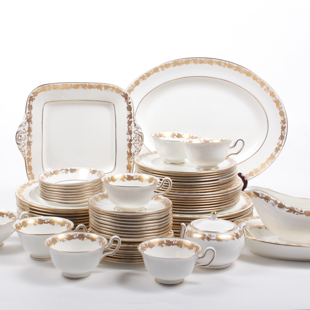 "Vintage Wedgwood ""Whitehall"" Bone China Service for Eight"