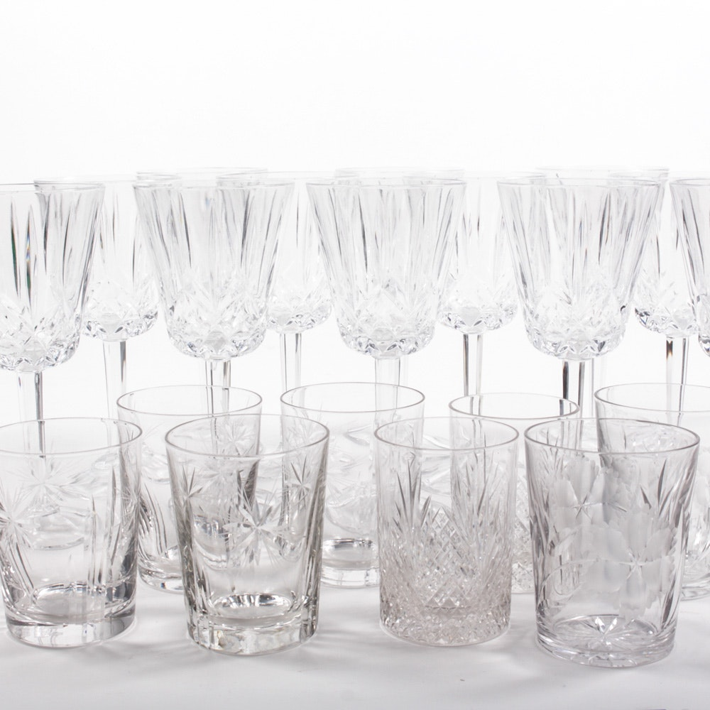 Cut Crystal and Glass Barware and Stemware