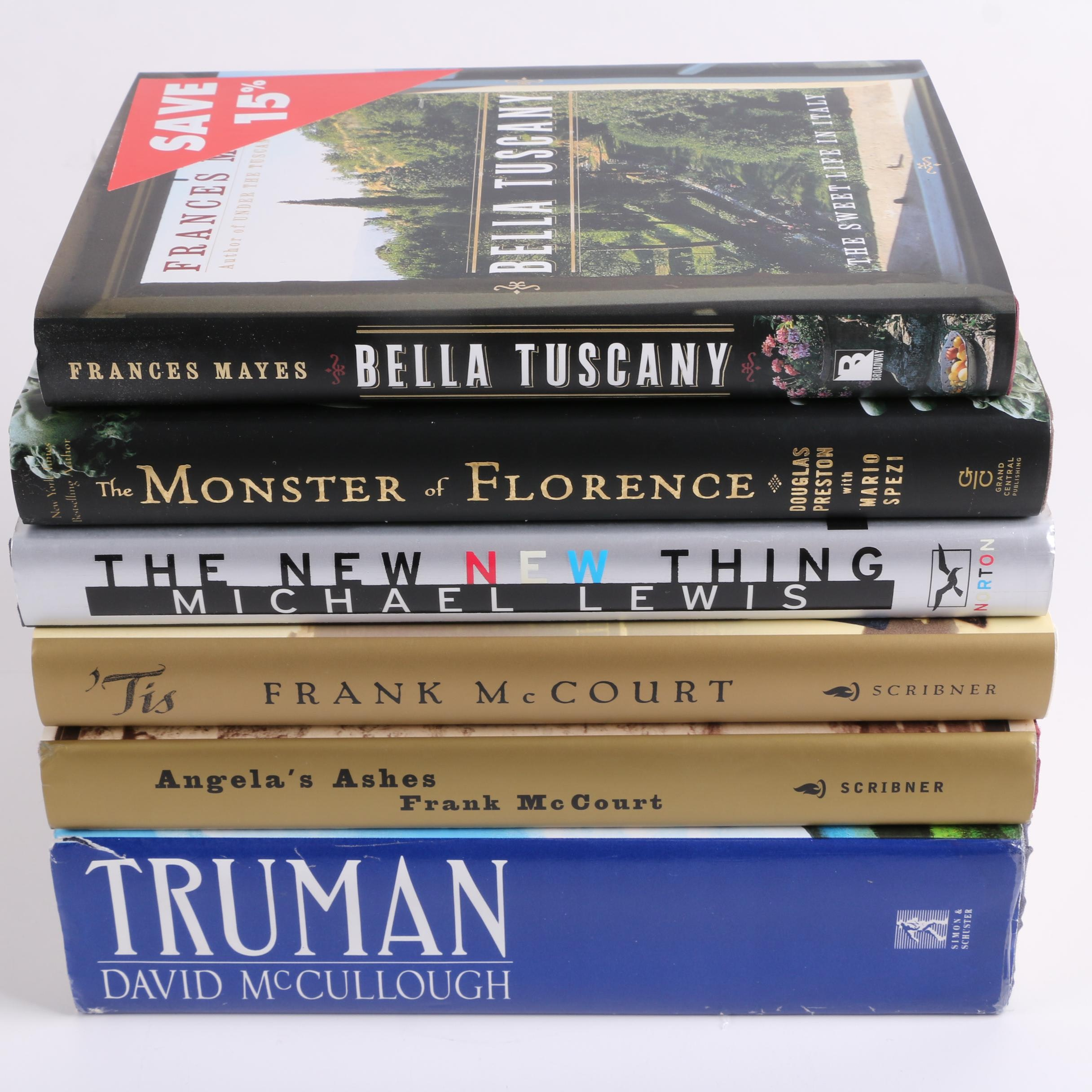 Non-Fiction including Frank McCourt and David McCullough