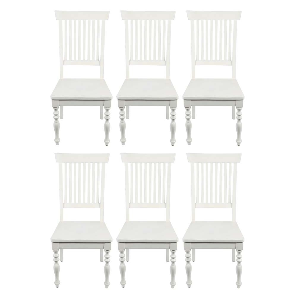 Six Farmhouse Style Dining Chairs
