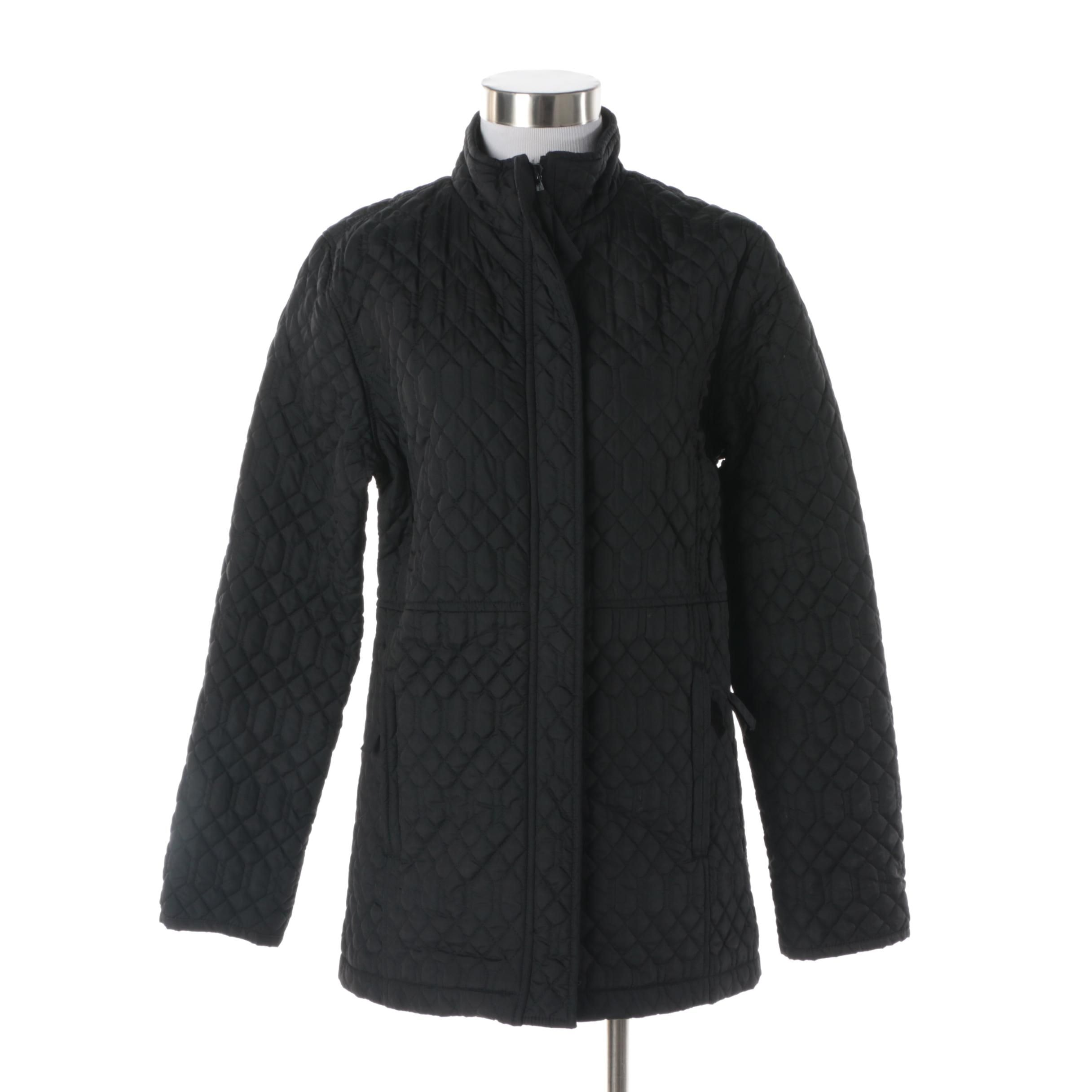 Women's Izod Outerwear Black Quilted Jacket