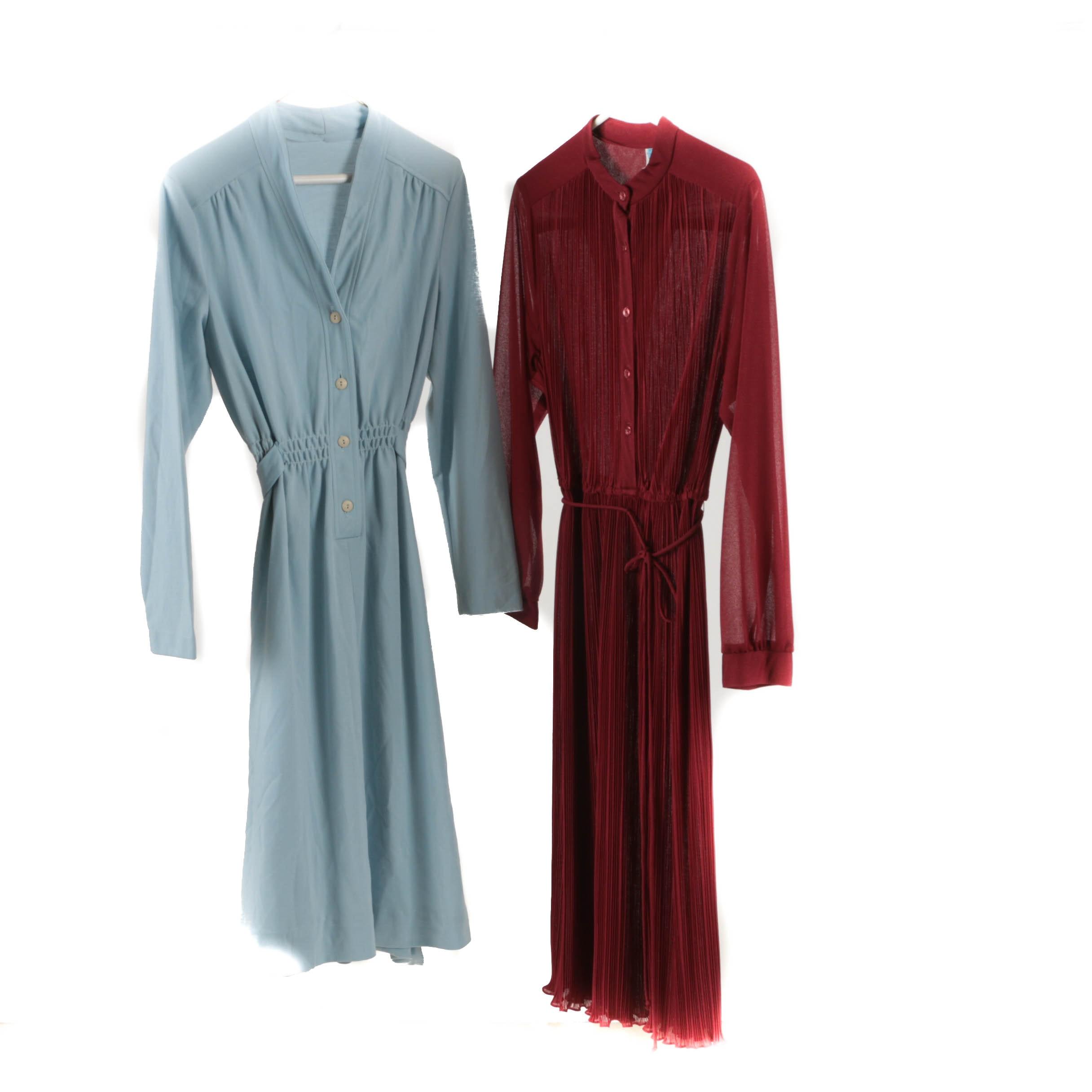 1970s Vintage Long-Sleeved Shirt Dresses