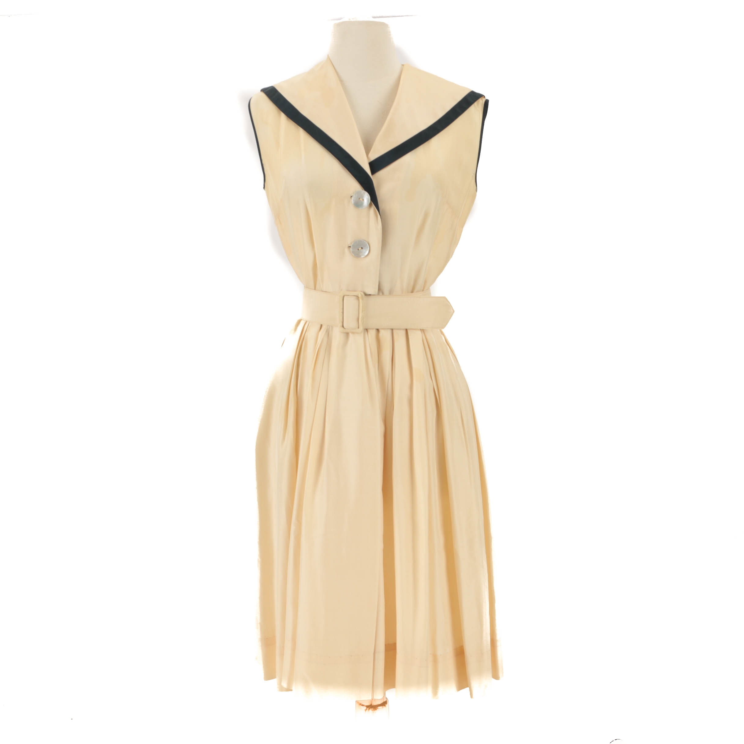 Vintage Silk Sleeveless Dress