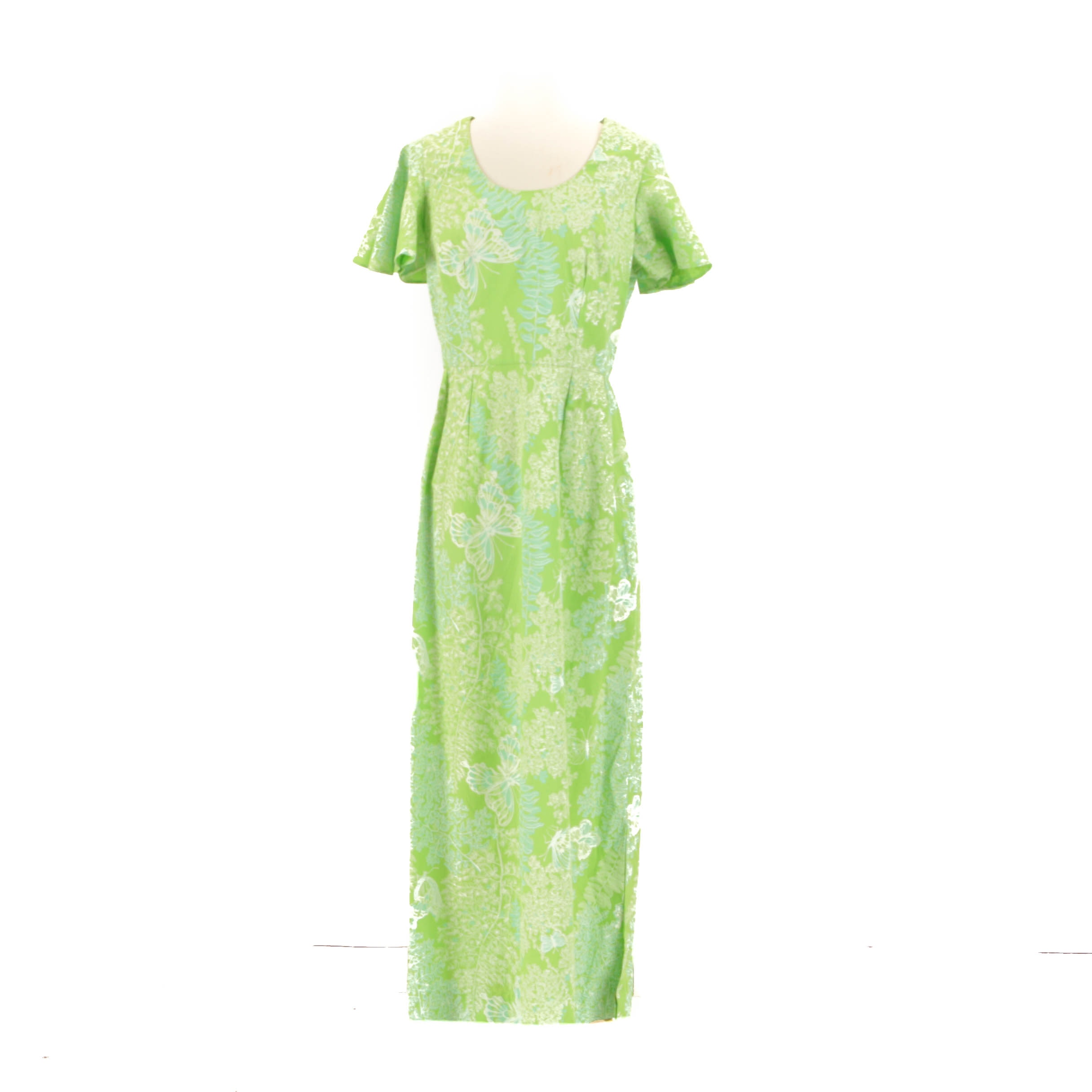 1970s Vintage Summer Floral Maxi Dress
