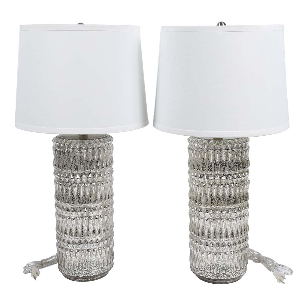 Contemporary Mercury Glass Table Lamps