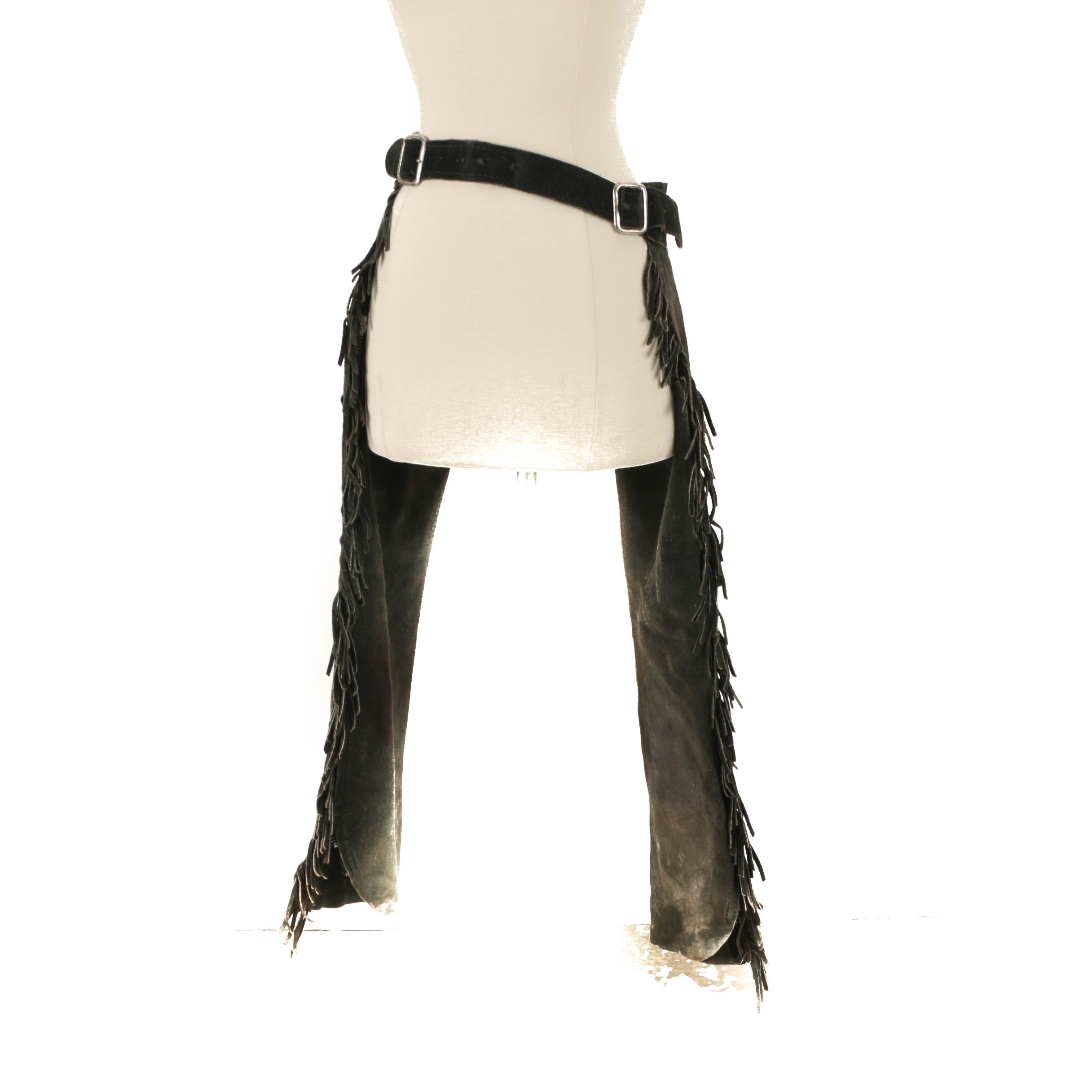 Vintage Fringed Suede Chaps