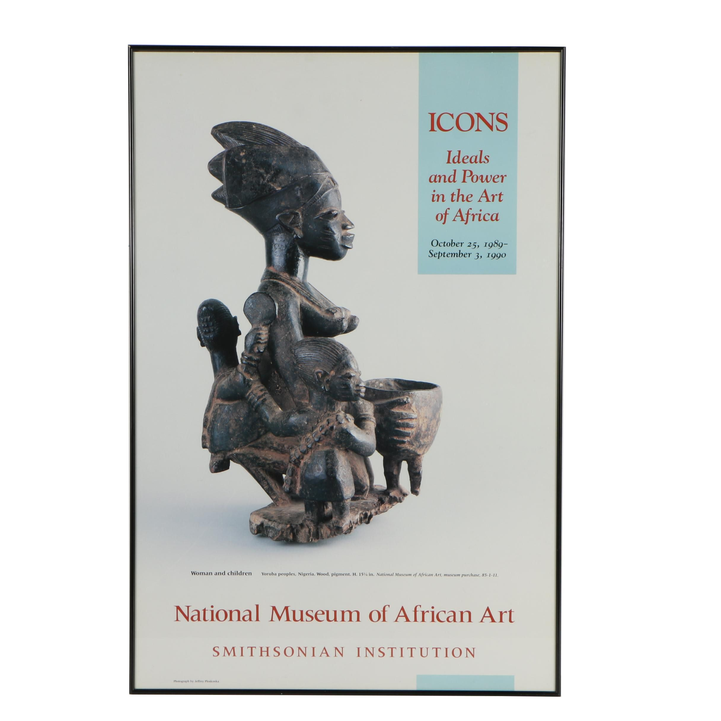 "Smithsonian National Museum of African Art ""Icons"" Exhibition Poster"