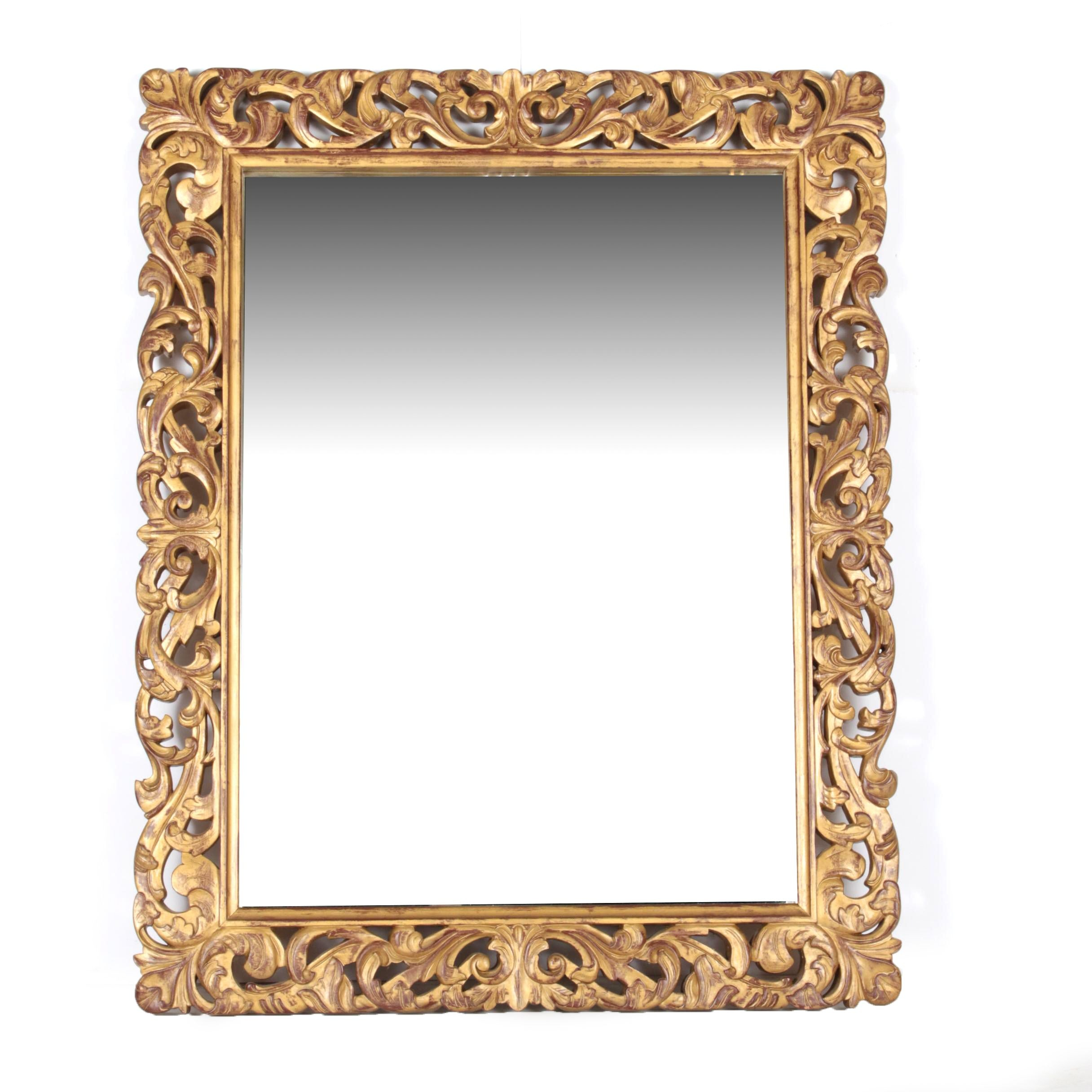 Late 20th Century Rococo Style Gilt Wall Mirror