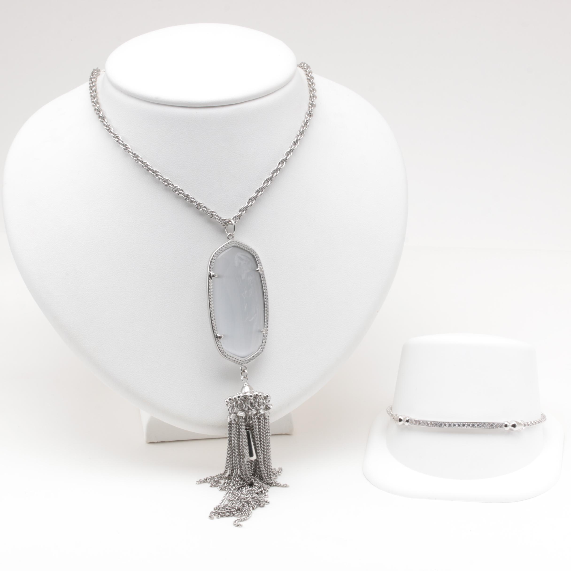 Kendra Scott Glass and Cubic Zirconia Necklace and Bracelet