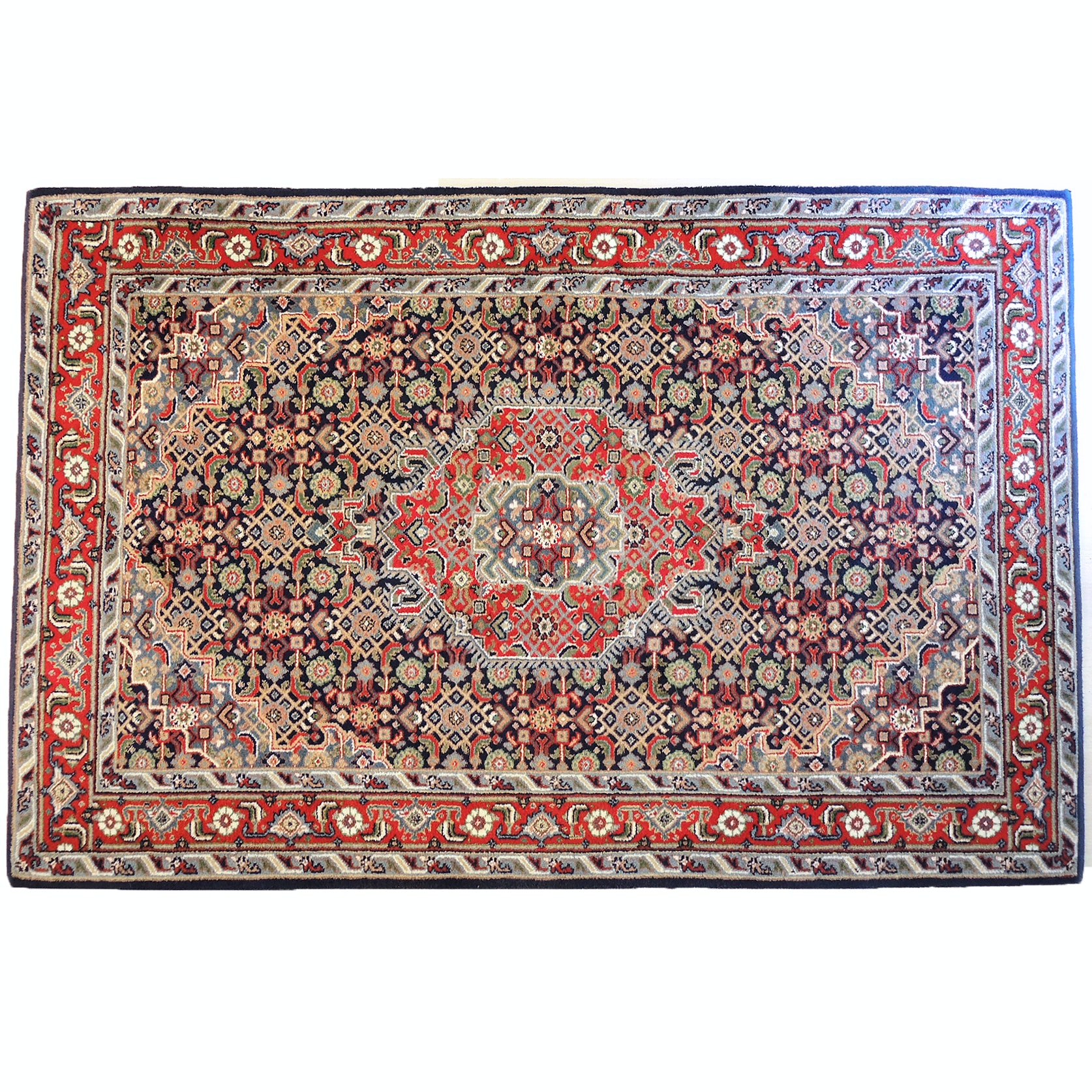 Power Loomed Indo-Persian Bijar Area Rug
