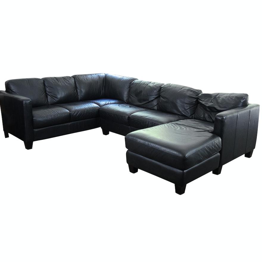 Brilliant Black Leather Sectional Sofa Machost Co Dining Chair Design Ideas Machostcouk