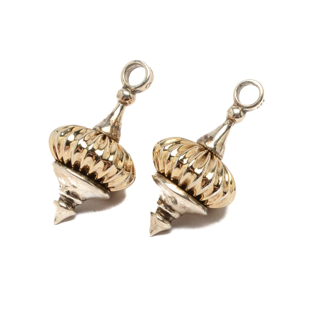 Caviar by Lagos Gold Tone Sterling Silver Earring Jackets